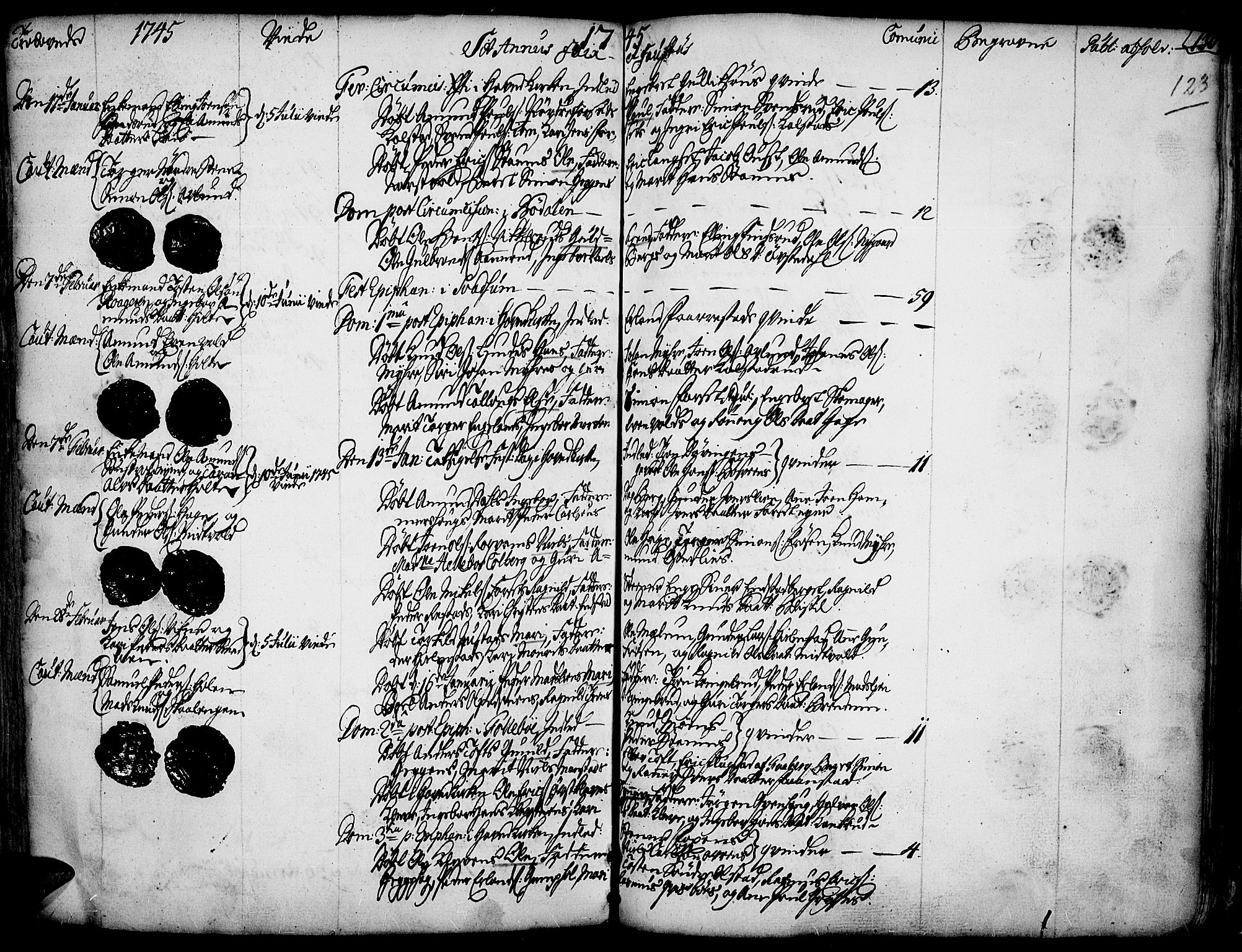 SAH, Gausdal prestekontor, Ministerialbok nr. 2, 1729-1757, s. 123