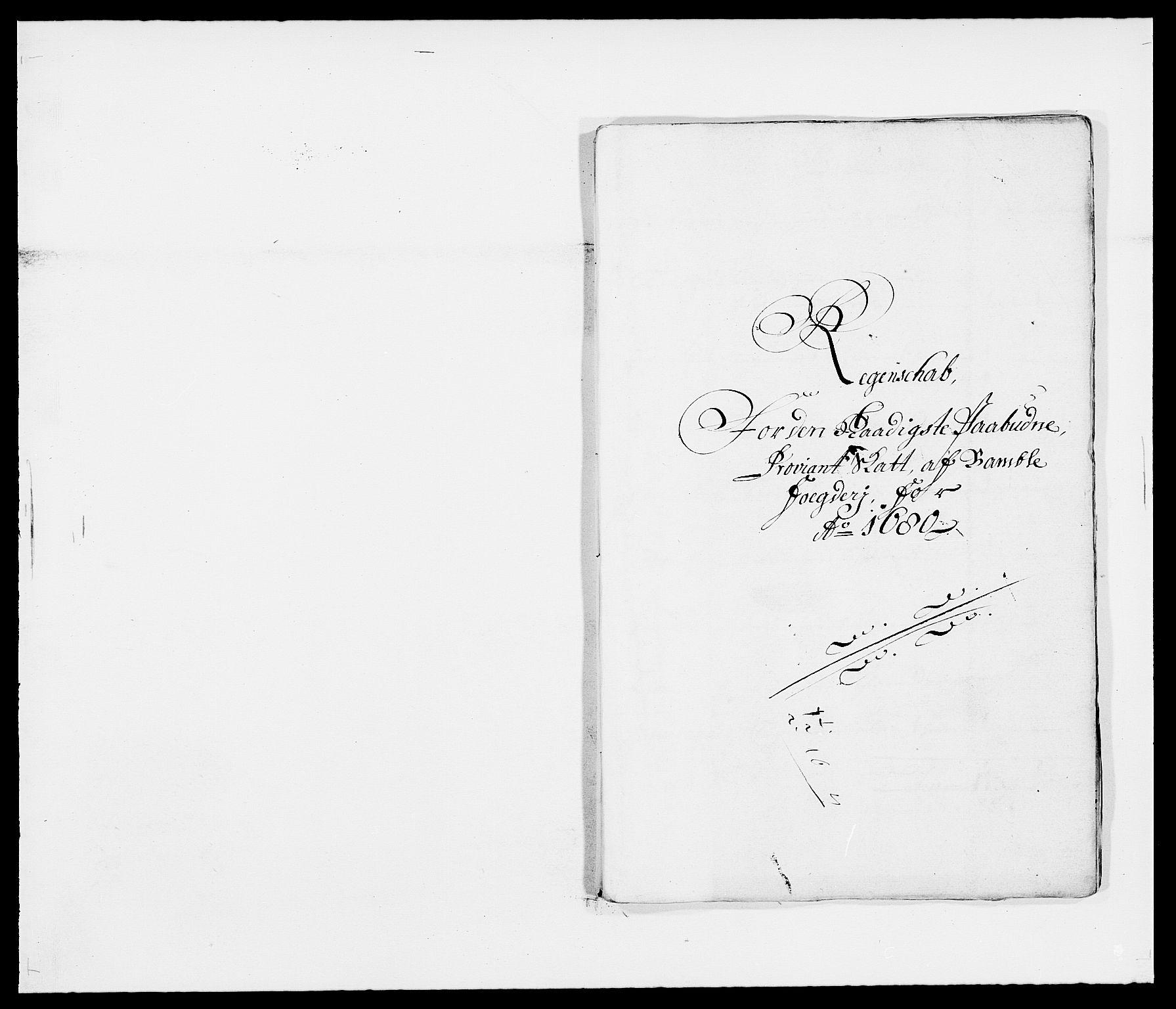 RA, Rentekammeret inntil 1814, Reviderte regnskaper, Fogderegnskap, R34/L2045: Fogderegnskap Bamble, 1680-1681, s. 110
