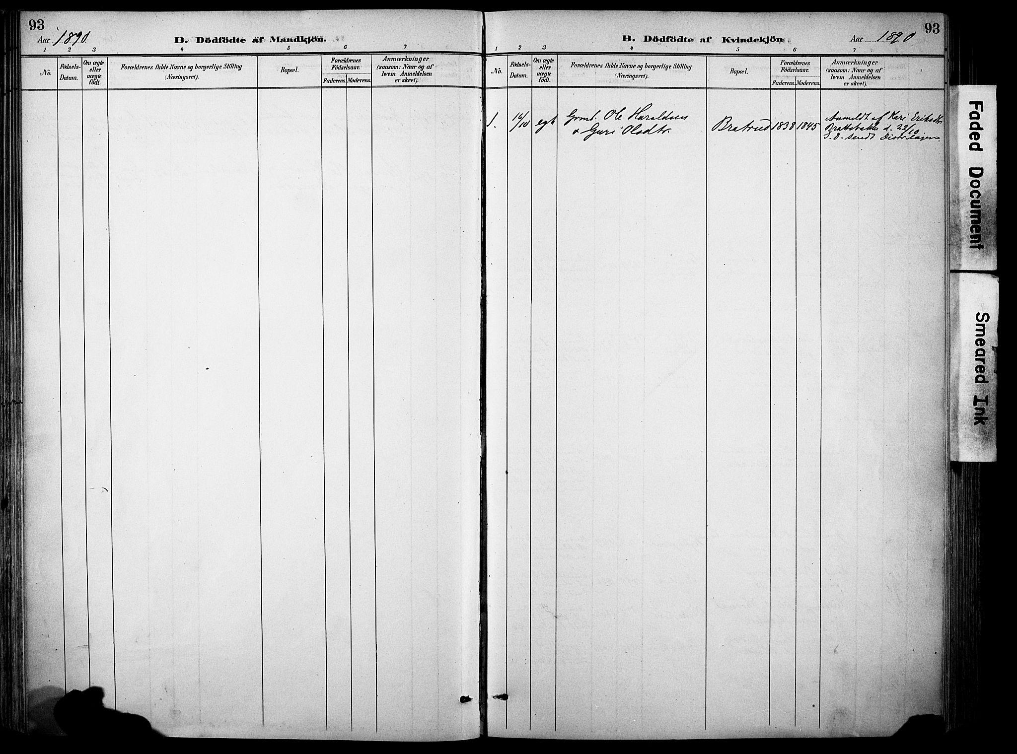 SAH, Sør-Aurdal prestekontor, Ministerialbok nr. 9, 1886-1906, s. 93