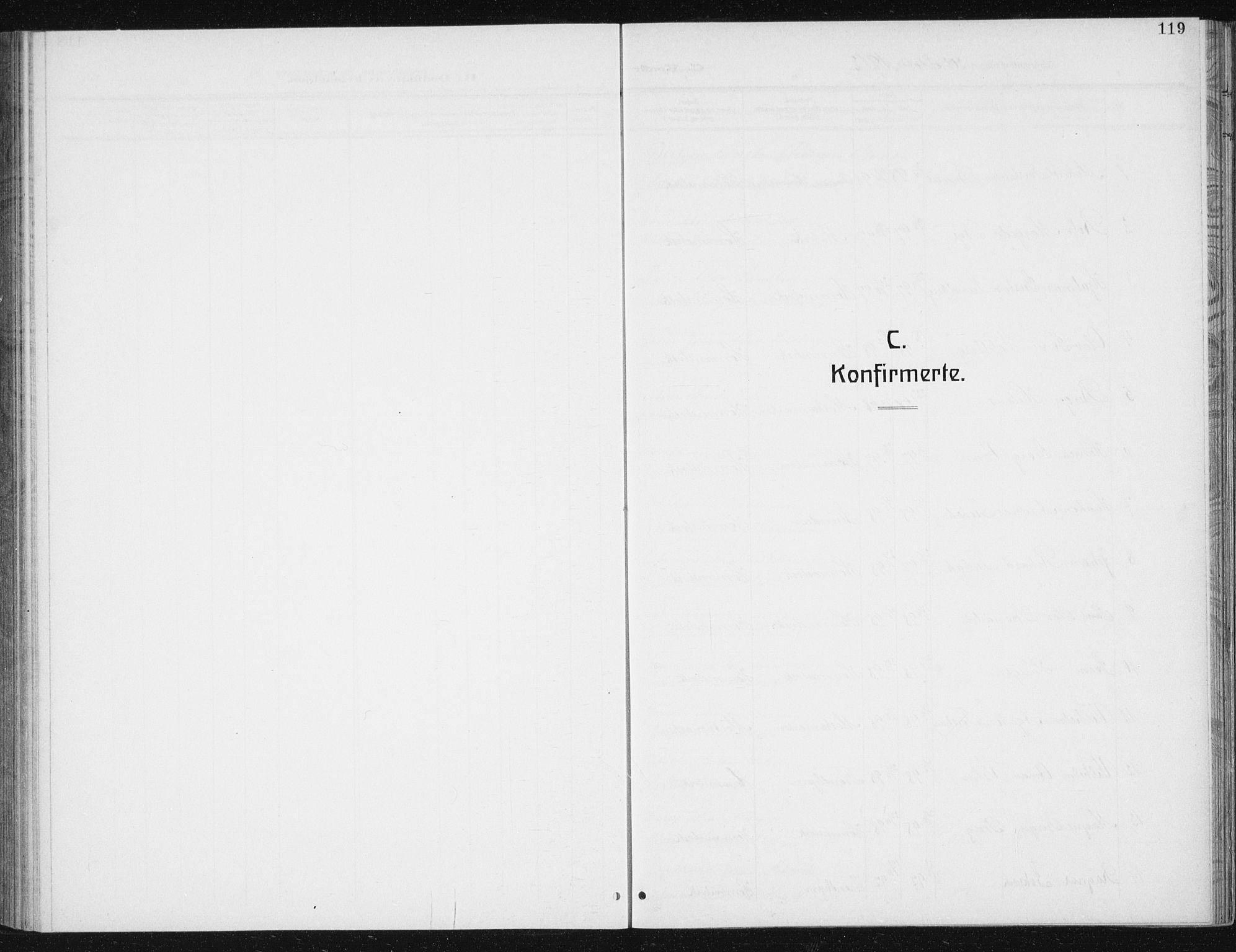 SAT, Ministerialprotokoller, klokkerbøker og fødselsregistre - Sør-Trøndelag, 617/L0431: Klokkerbok nr. 617C02, 1910-1936, s. 119