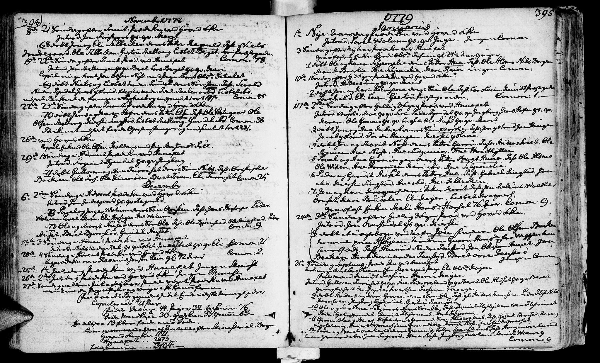 SAT, Ministerialprotokoller, klokkerbøker og fødselsregistre - Sør-Trøndelag, 646/L0605: Ministerialbok nr. 646A03, 1751-1790, s. 394-395