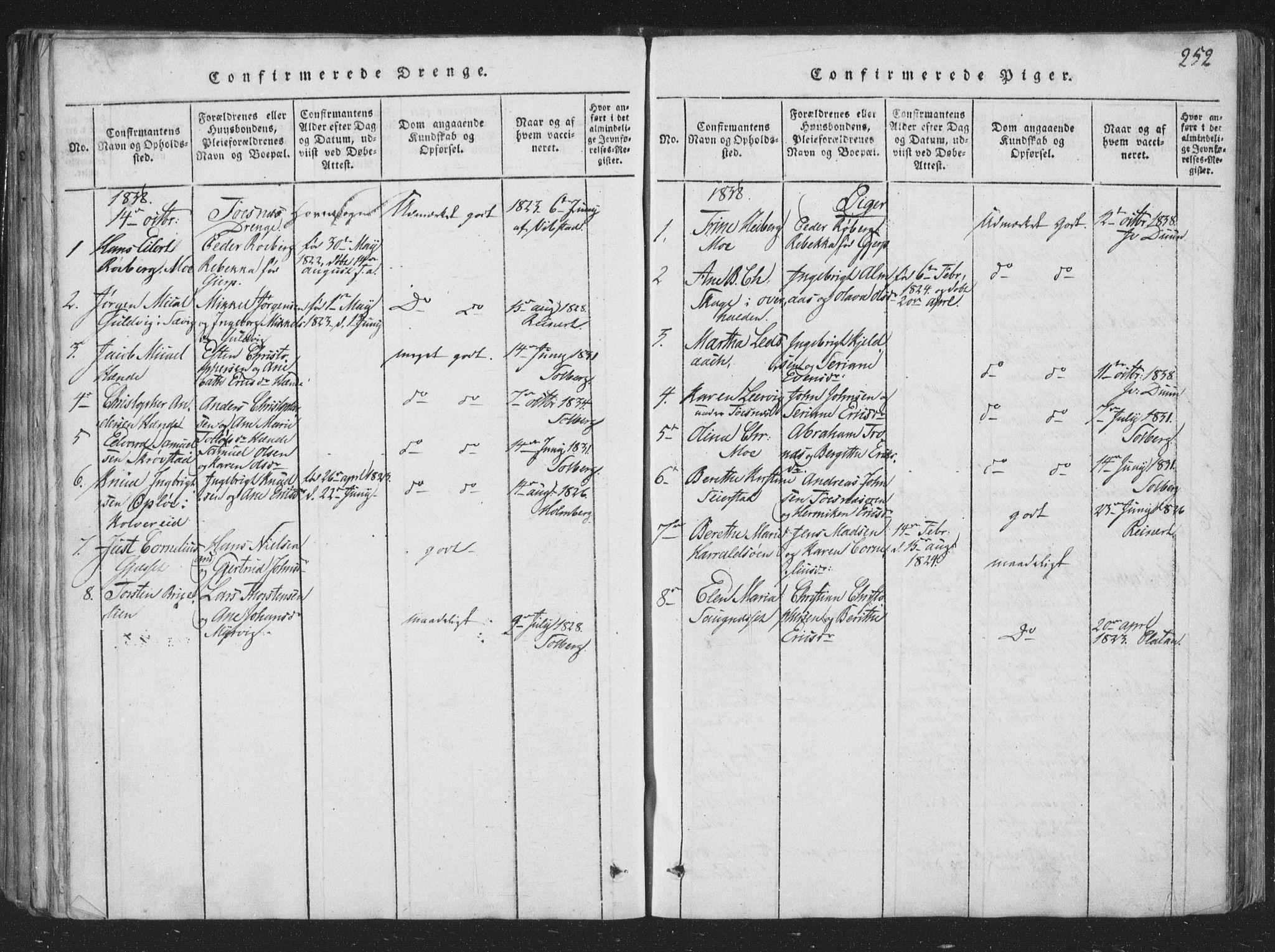 SAT, Ministerialprotokoller, klokkerbøker og fødselsregistre - Nord-Trøndelag, 773/L0613: Ministerialbok nr. 773A04, 1815-1845, s. 252