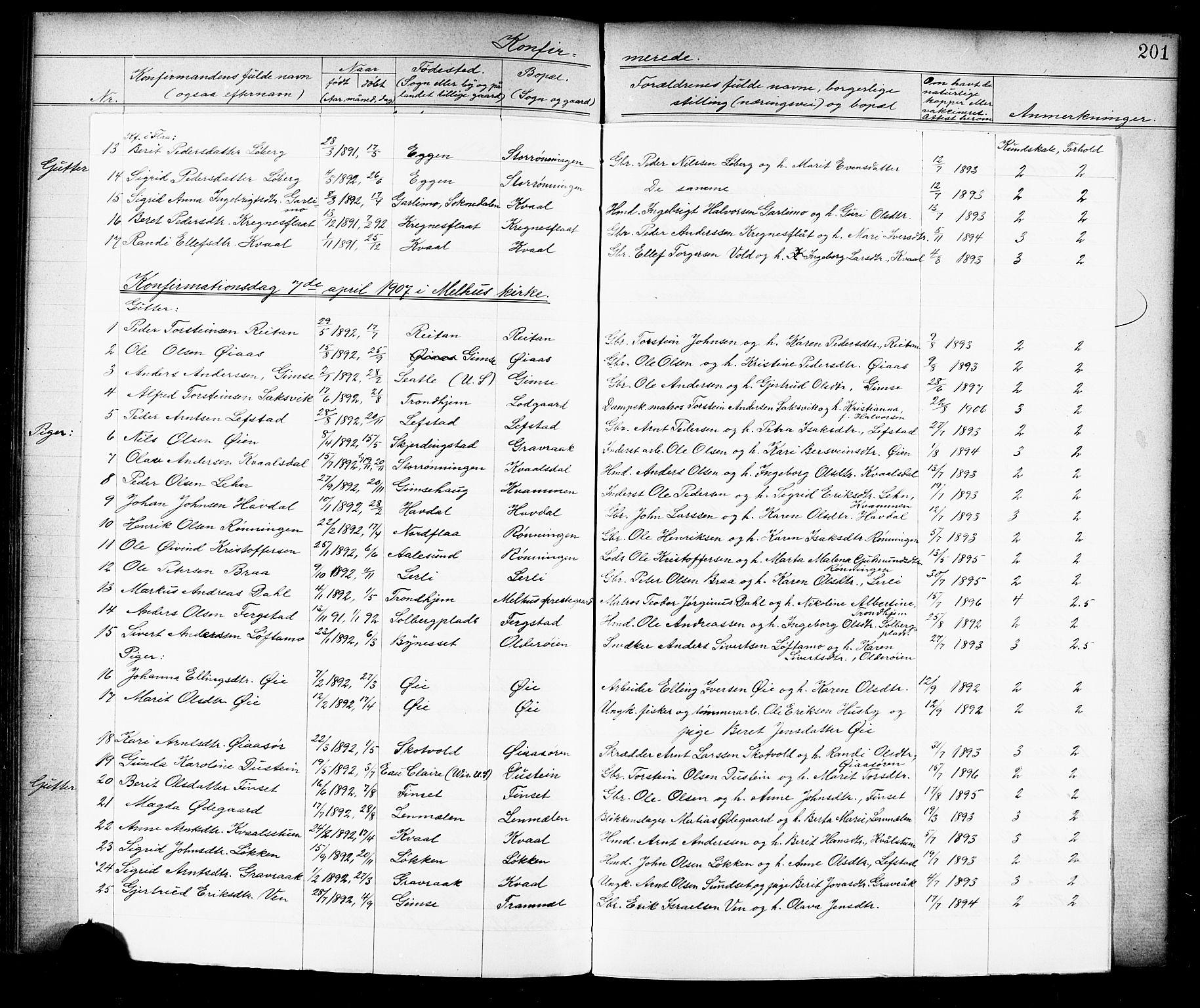 SAT, Ministerialprotokoller, klokkerbøker og fødselsregistre - Sør-Trøndelag, 691/L1094: Klokkerbok nr. 691C05, 1879-1911, s. 201e