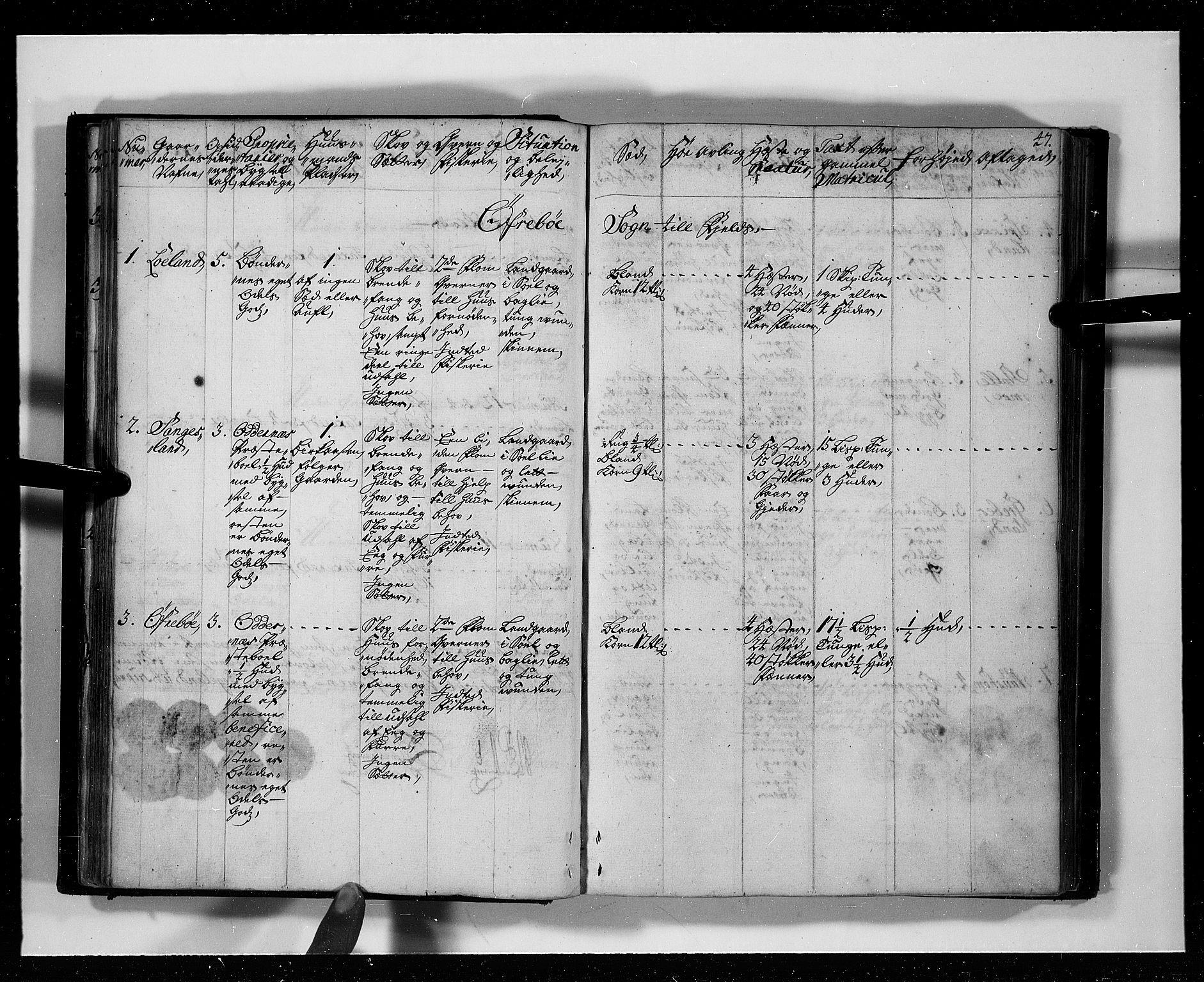RA, Rentekammeret inntil 1814, Realistisk ordnet avdeling, N/Nb/Nbf/L0127: Mandal eksaminasjonsprotokoll, 1723, s. 46b-47a