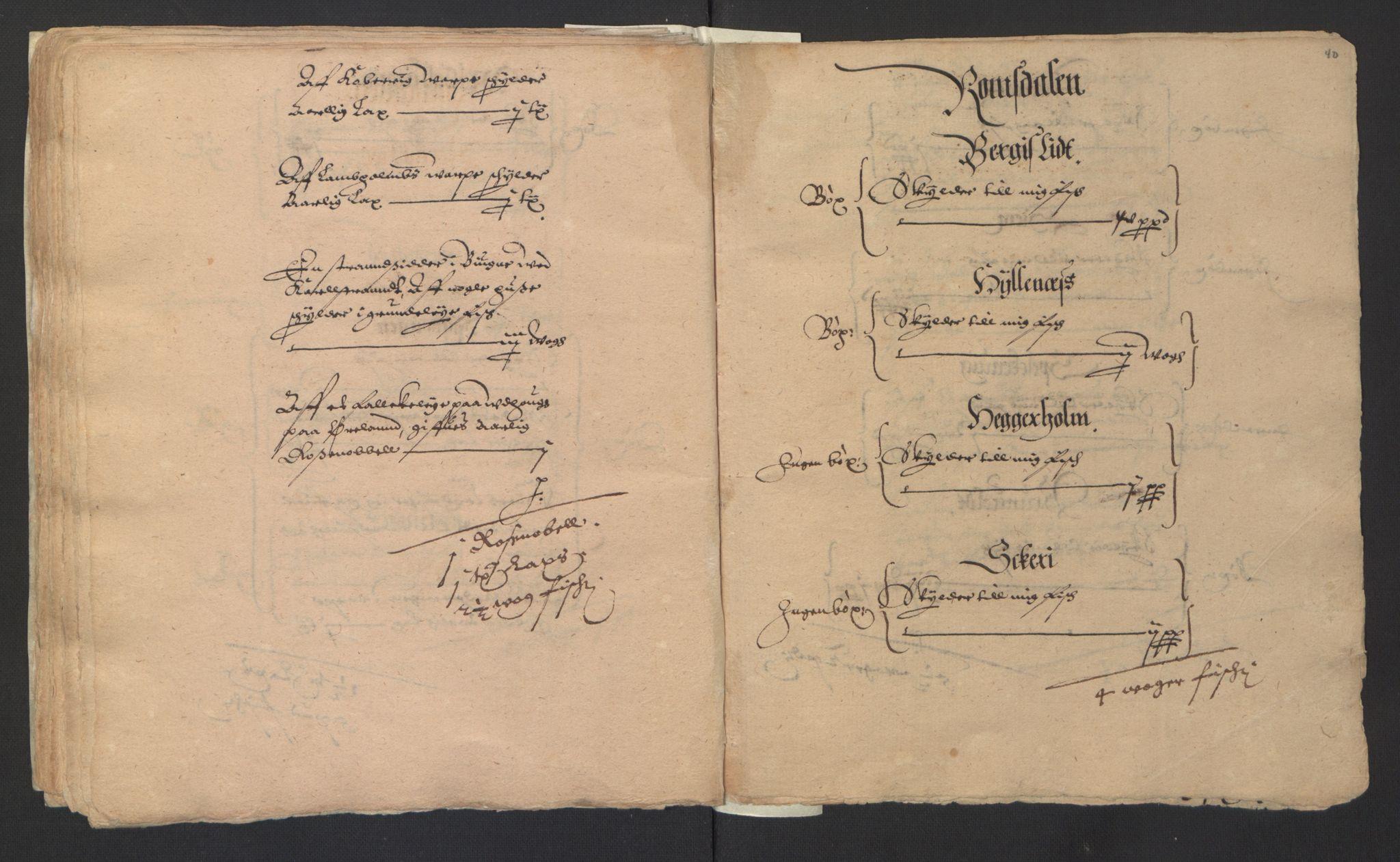 RA, Stattholderembetet 1572-1771, Ek/L0007: Jordebøker til utlikning av rosstjeneste 1624-1626:, 1624-1625, s. 154