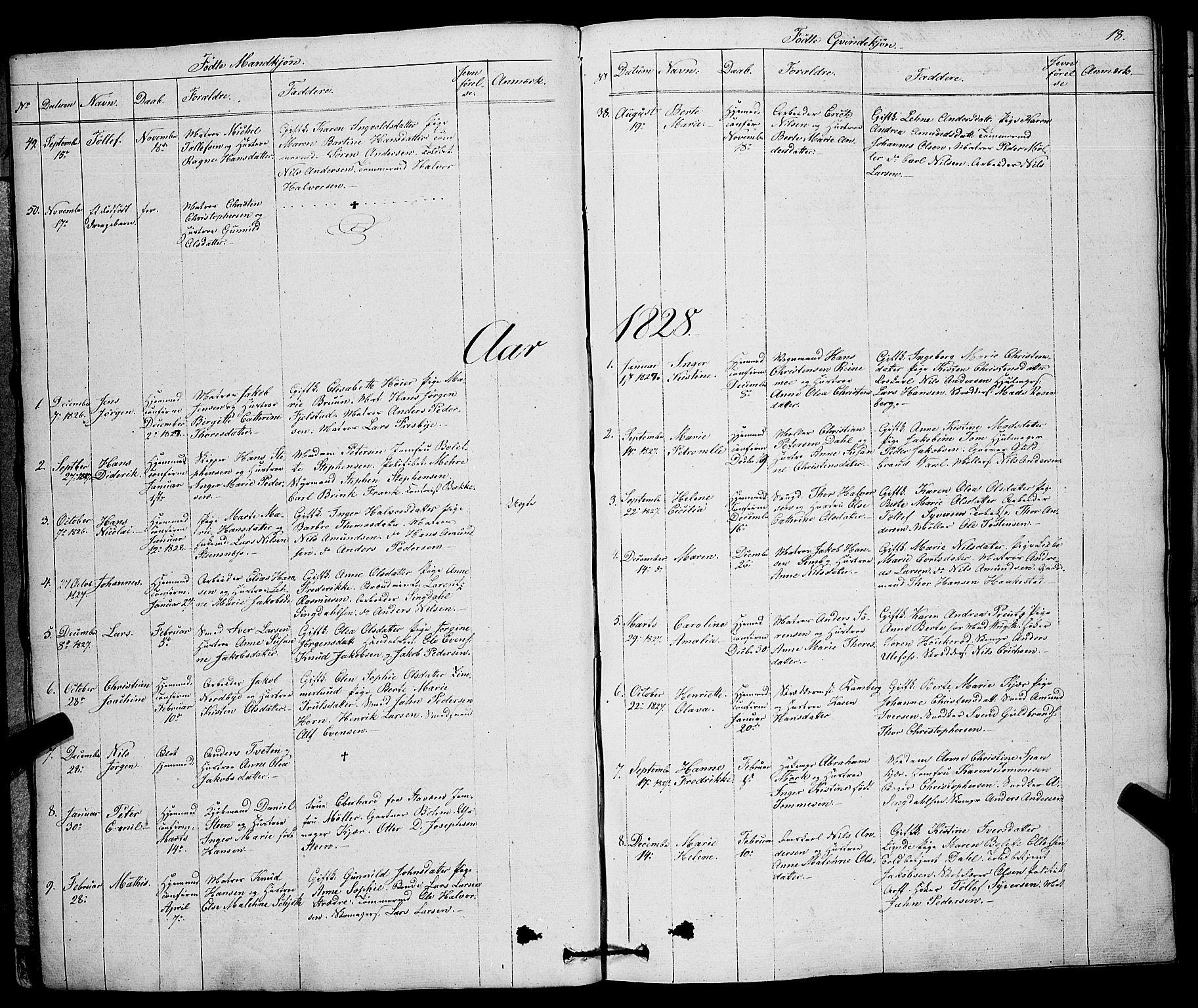 SAKO, Larvik kirkebøker, F/Fa/L0002: Ministerialbok nr. I 2, 1825-1847, s. 18