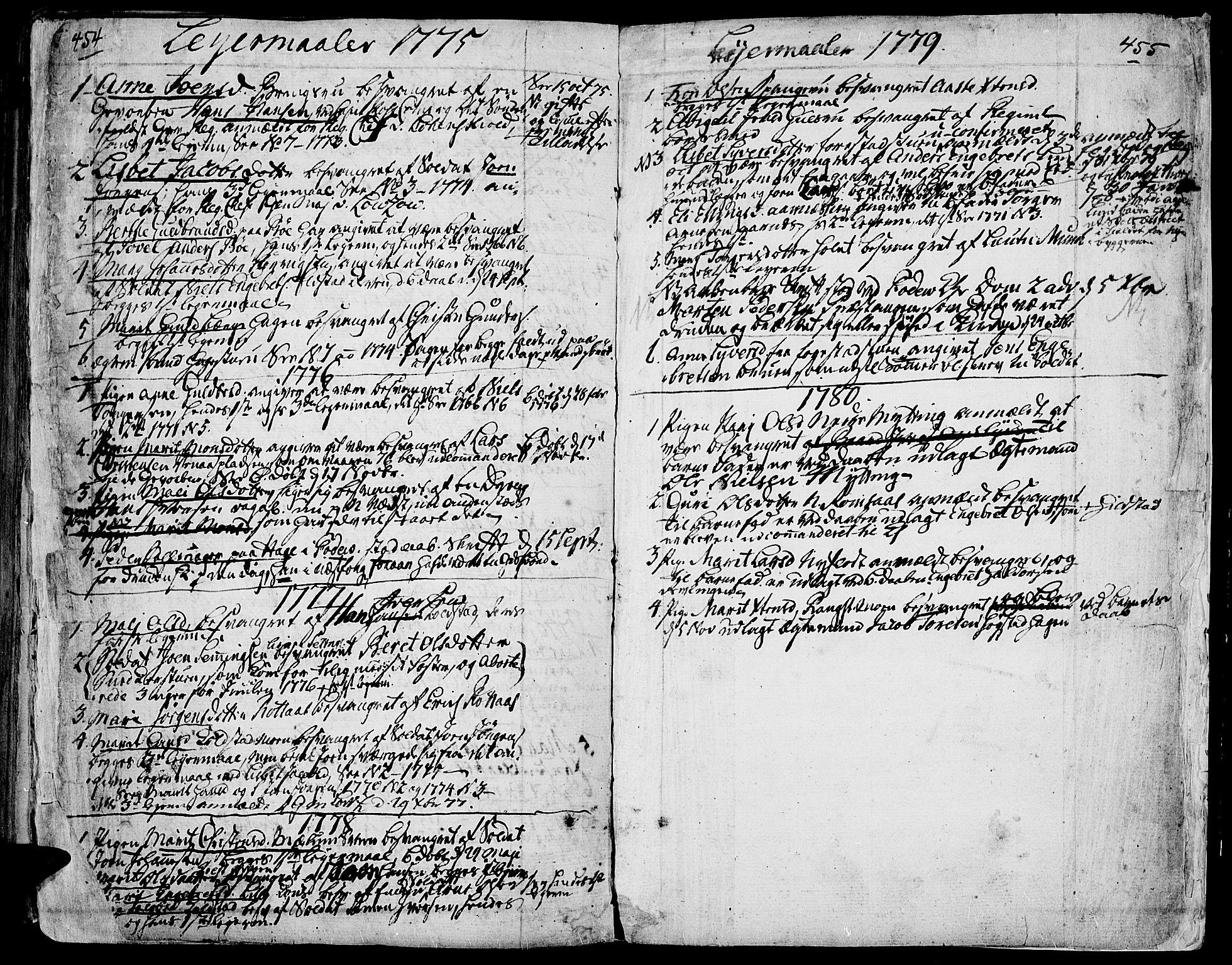 SAH, Ringebu prestekontor, Ministerialbok nr. 2, 1734-1780, s. 454-455