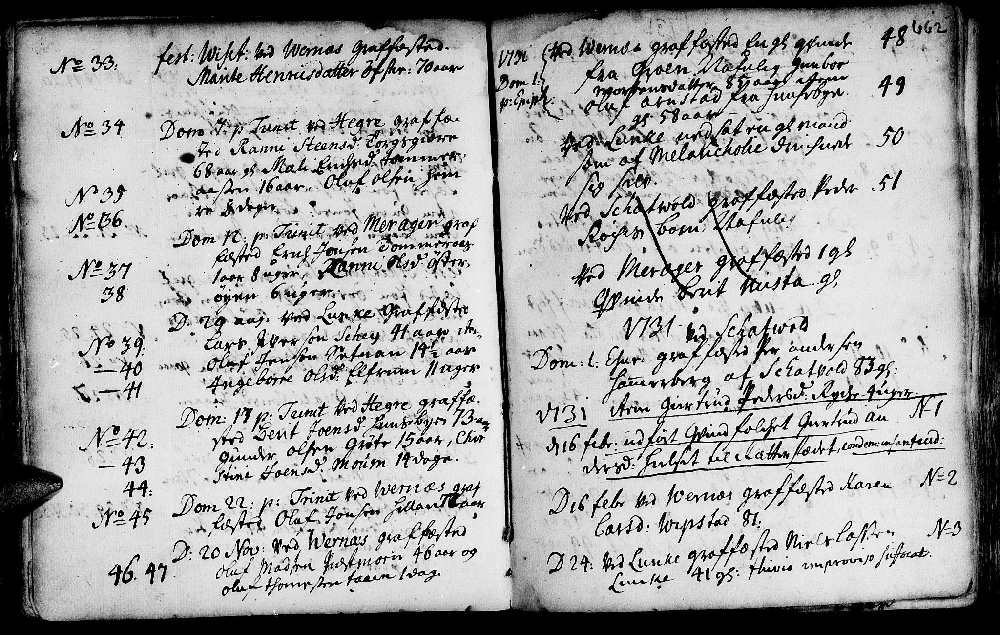 SAT, Ministerialprotokoller, klokkerbøker og fødselsregistre - Nord-Trøndelag, 709/L0055: Ministerialbok nr. 709A03, 1730-1739, s. 661-662
