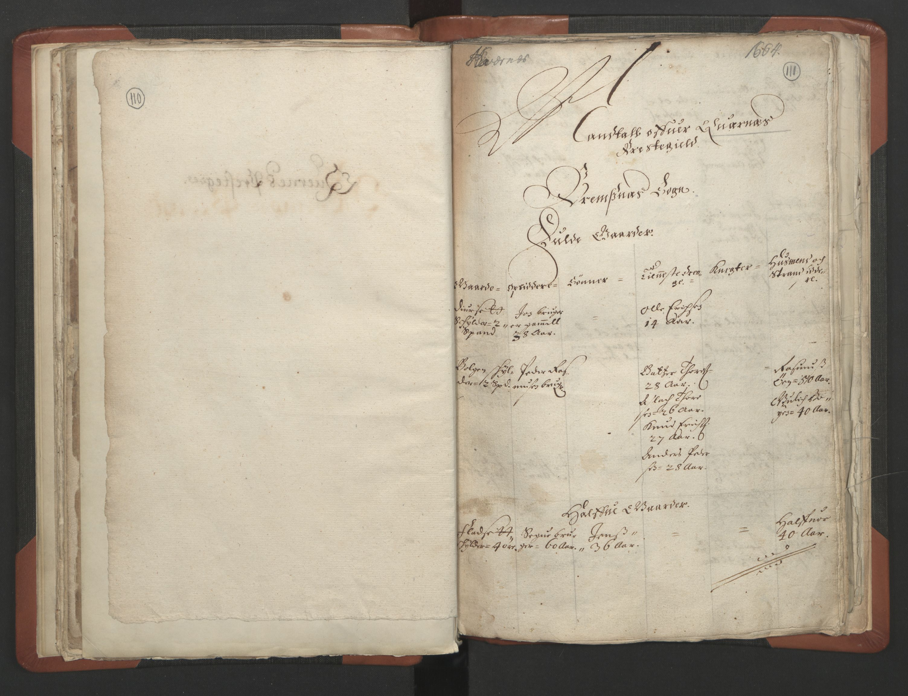 RA, Sogneprestenes manntall 1664-1666, nr. 28: Nordmøre prosti, 1664-1666, s. 110-111