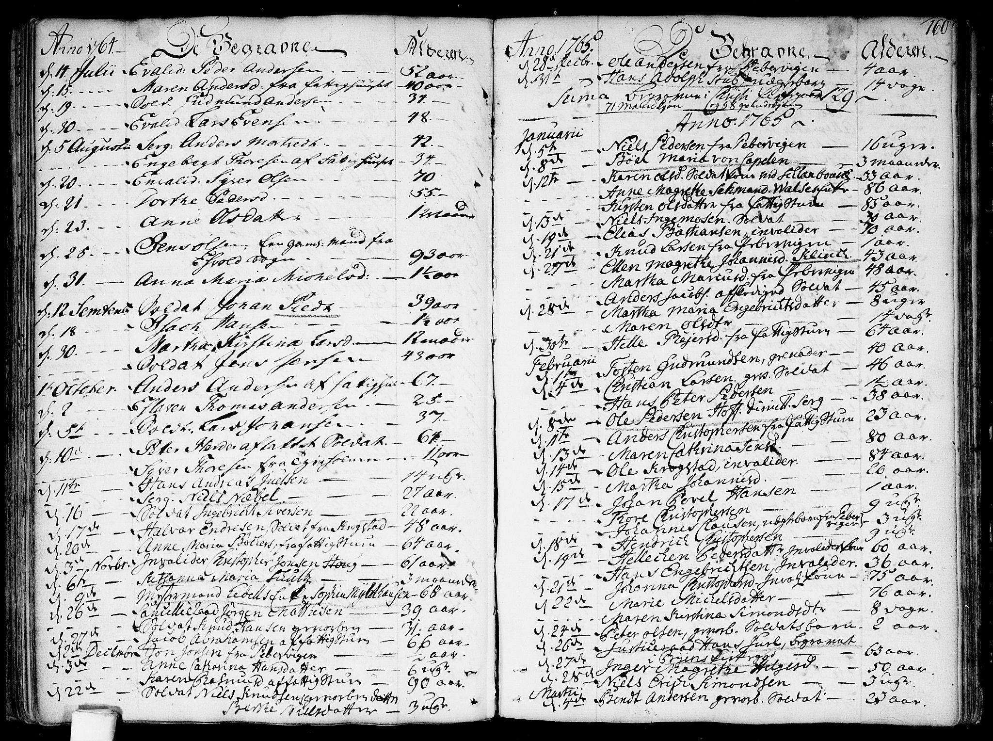 SAO, Garnisonsmenigheten Kirkebøker, F/Fa/L0002: Ministerialbok nr. 2, 1757-1776, s. 160