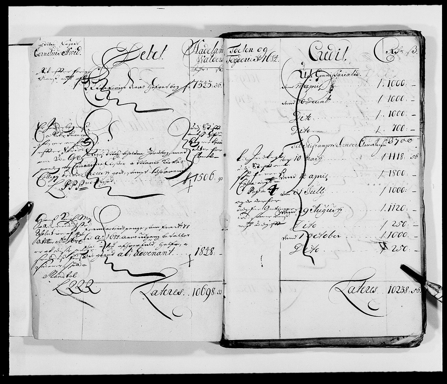 RA, Rentekammeret inntil 1814, Reviderte regnskaper, Fogderegnskap, R18/L1287: Fogderegnskap Hadeland, Toten og Valdres, 1688, s. 46