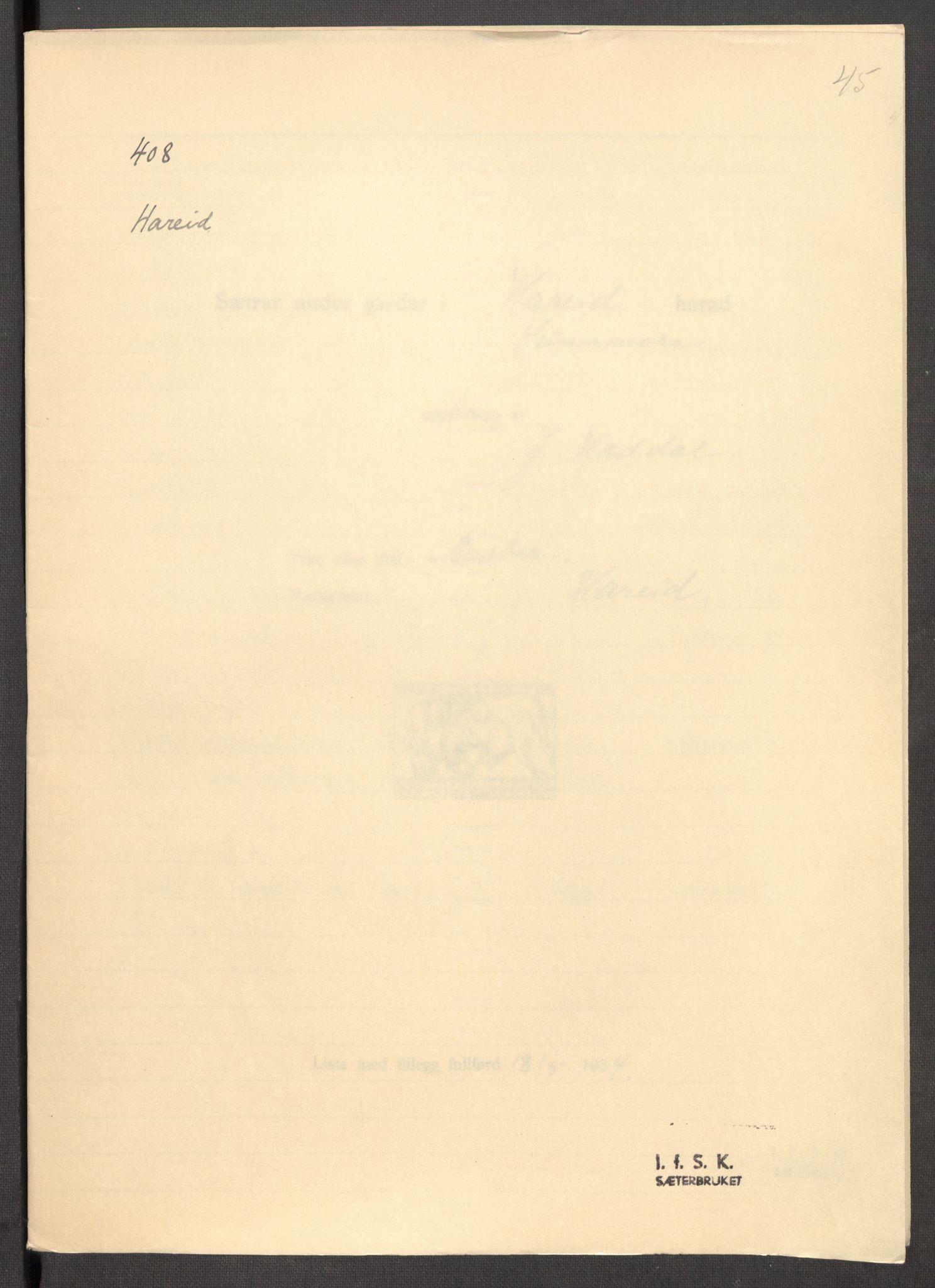 RA, Instituttet for sammenlignende kulturforskning, F/Fc/L0012: Eske B12:, 1934-1936, s. 45