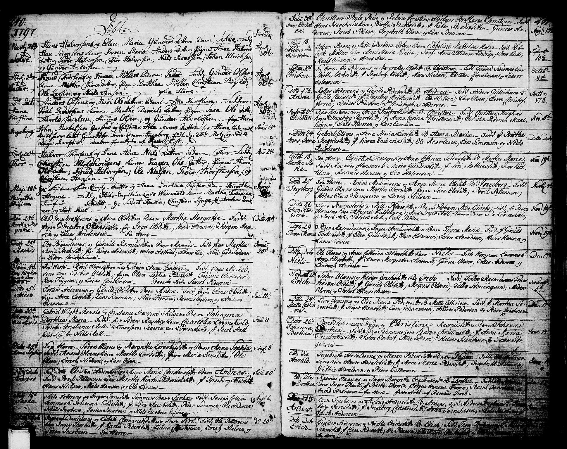 SAKO, Porsgrunn kirkebøker , F/Fa/L0002: Ministerialbok nr. 2, 1764-1814, s. 240-241