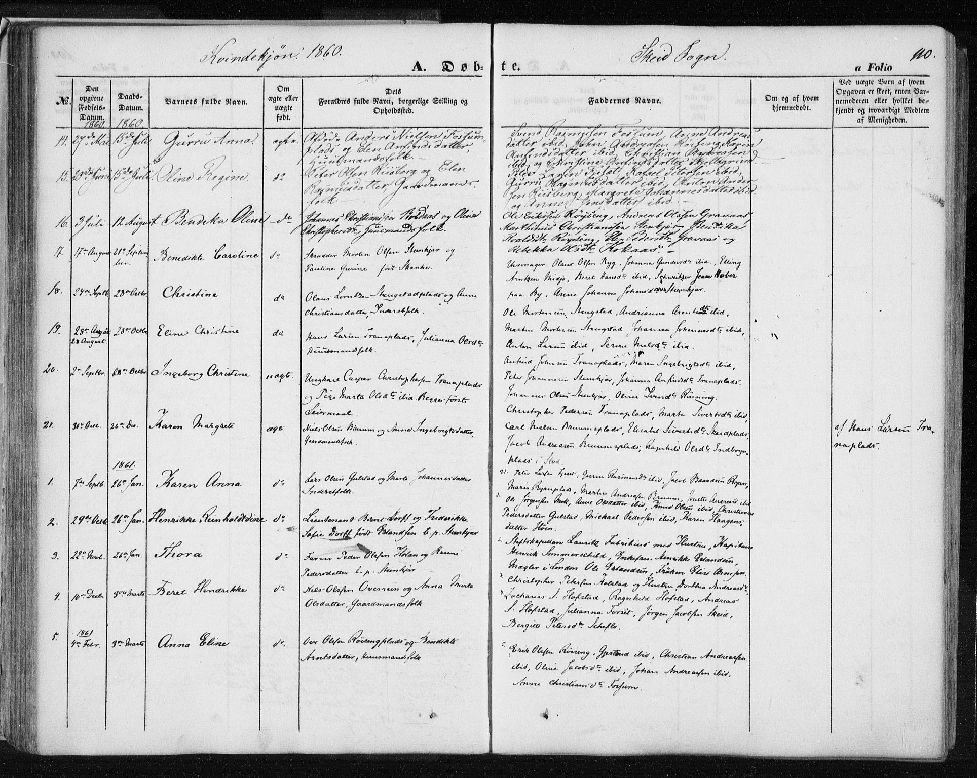 SAT, Ministerialprotokoller, klokkerbøker og fødselsregistre - Nord-Trøndelag, 735/L0342: Ministerialbok nr. 735A07 /2, 1849-1862, s. 110
