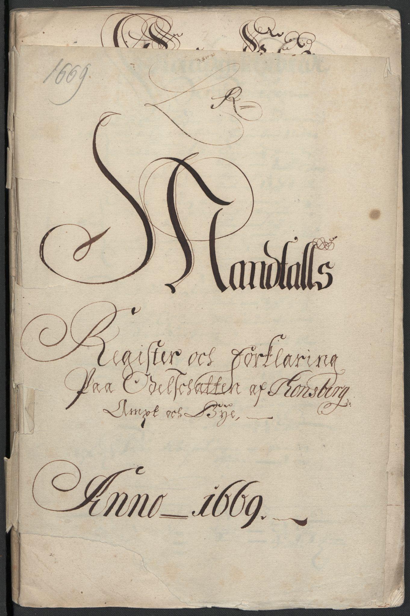 RA, Rentekammeret inntil 1814, Reviderte regnskaper, Fogderegnskap, R32/L1840: Fogderegnskap Jarlsberg grevskap, 1664-1673, s. 254