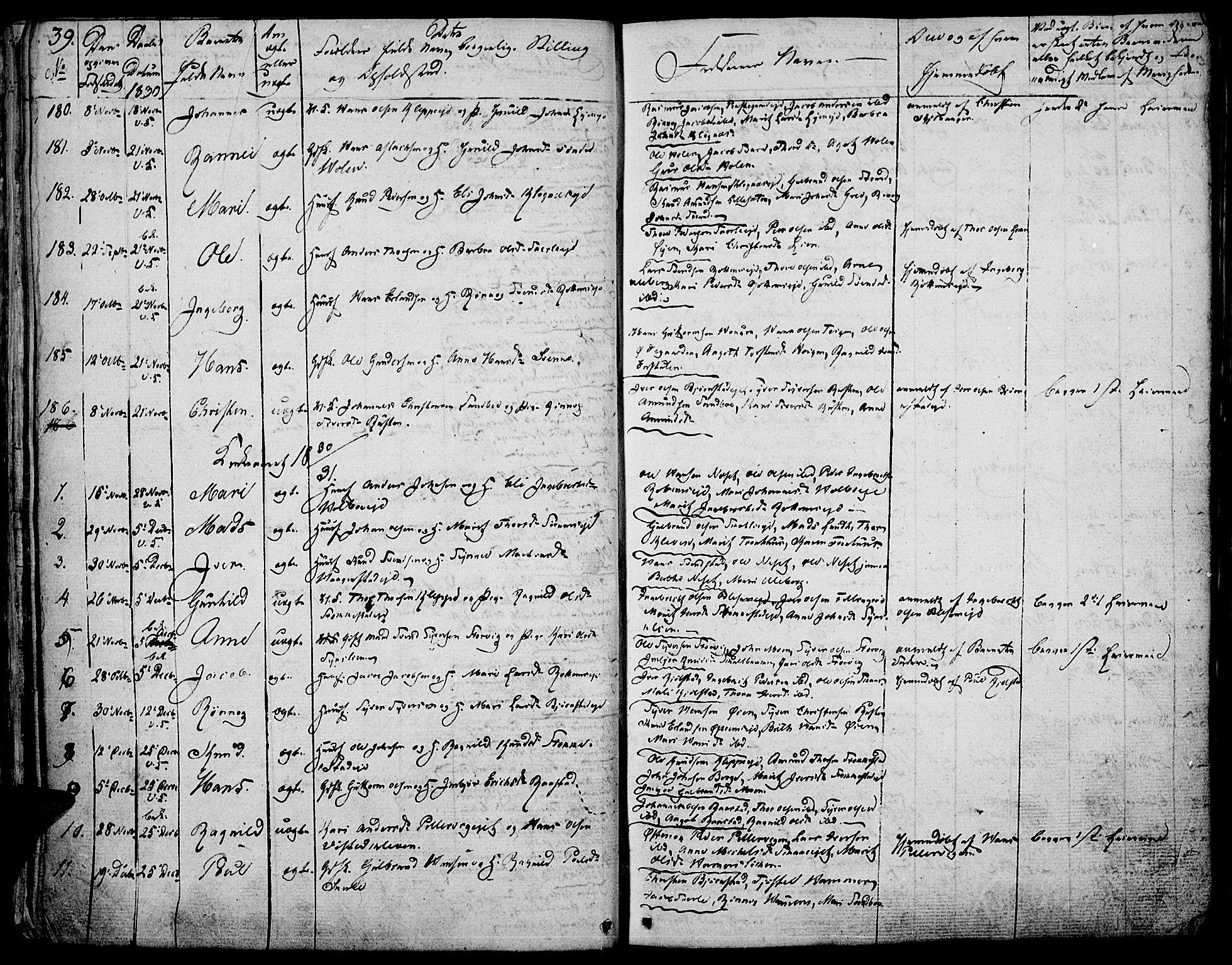 SAH, Vågå prestekontor, Ministerialbok nr. 4 /1, 1827-1842, s. 39