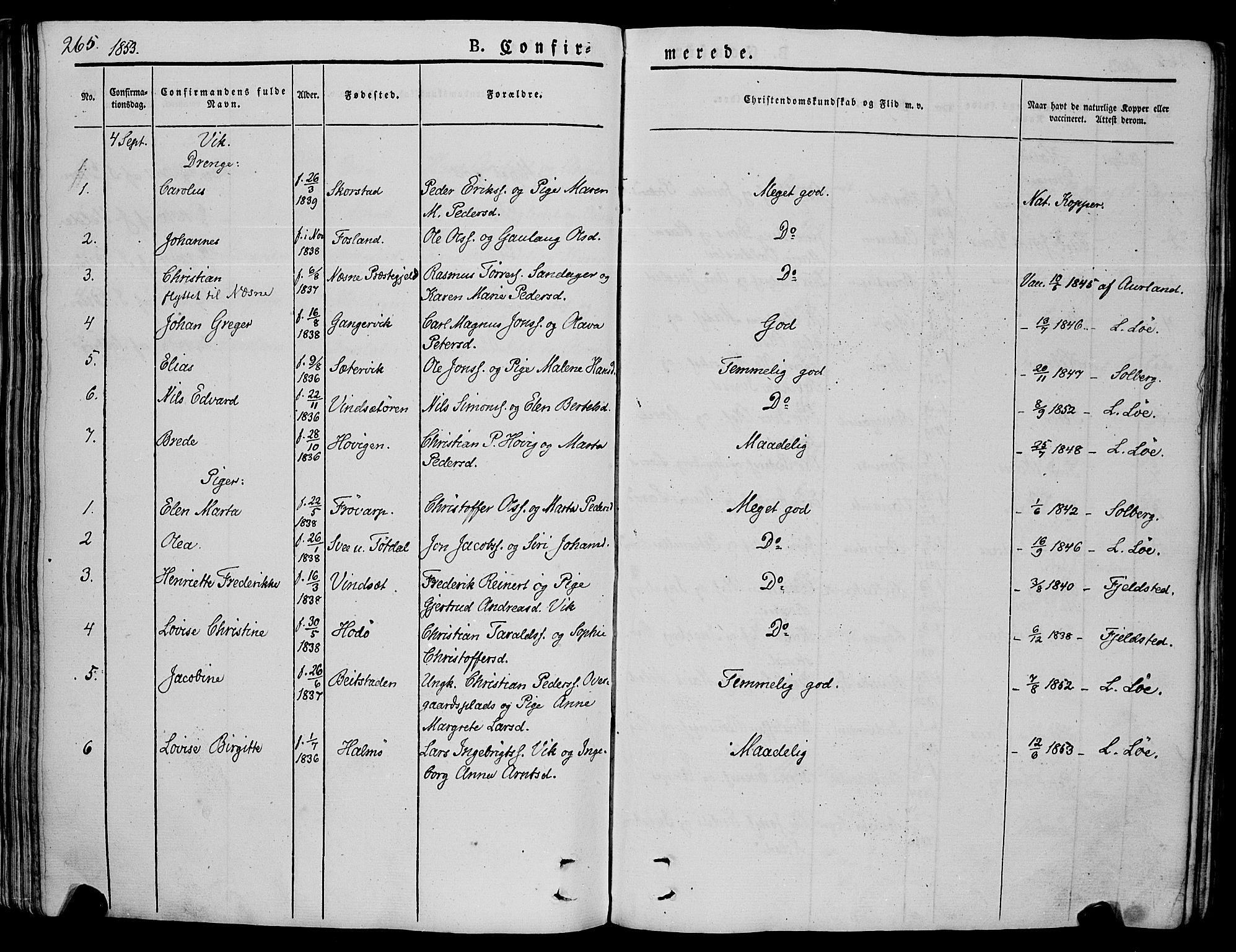 SAT, Ministerialprotokoller, klokkerbøker og fødselsregistre - Nord-Trøndelag, 773/L0614: Ministerialbok nr. 773A05, 1831-1856, s. 265