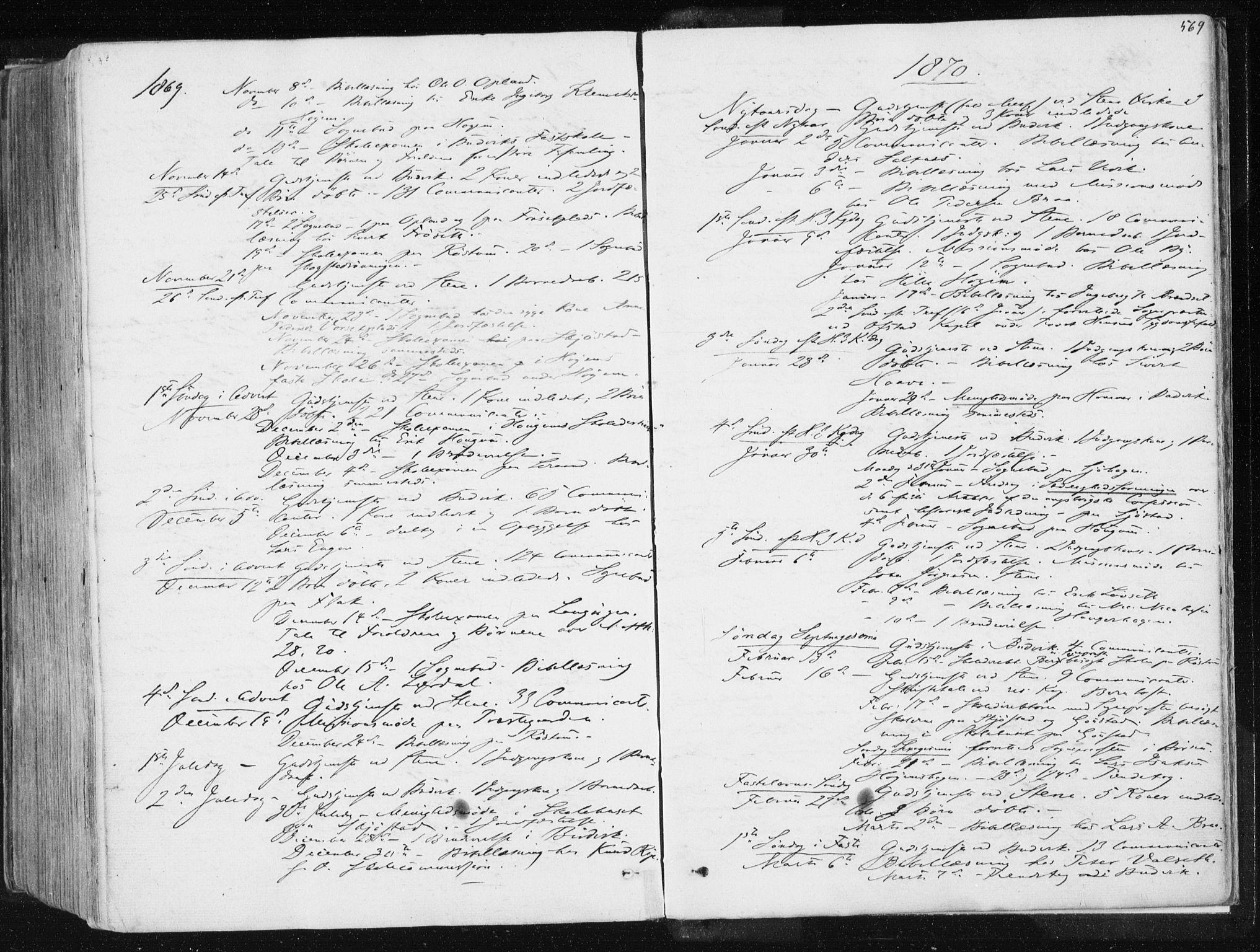 SAT, Ministerialprotokoller, klokkerbøker og fødselsregistre - Sør-Trøndelag, 612/L0377: Ministerialbok nr. 612A09, 1859-1877, s. 569
