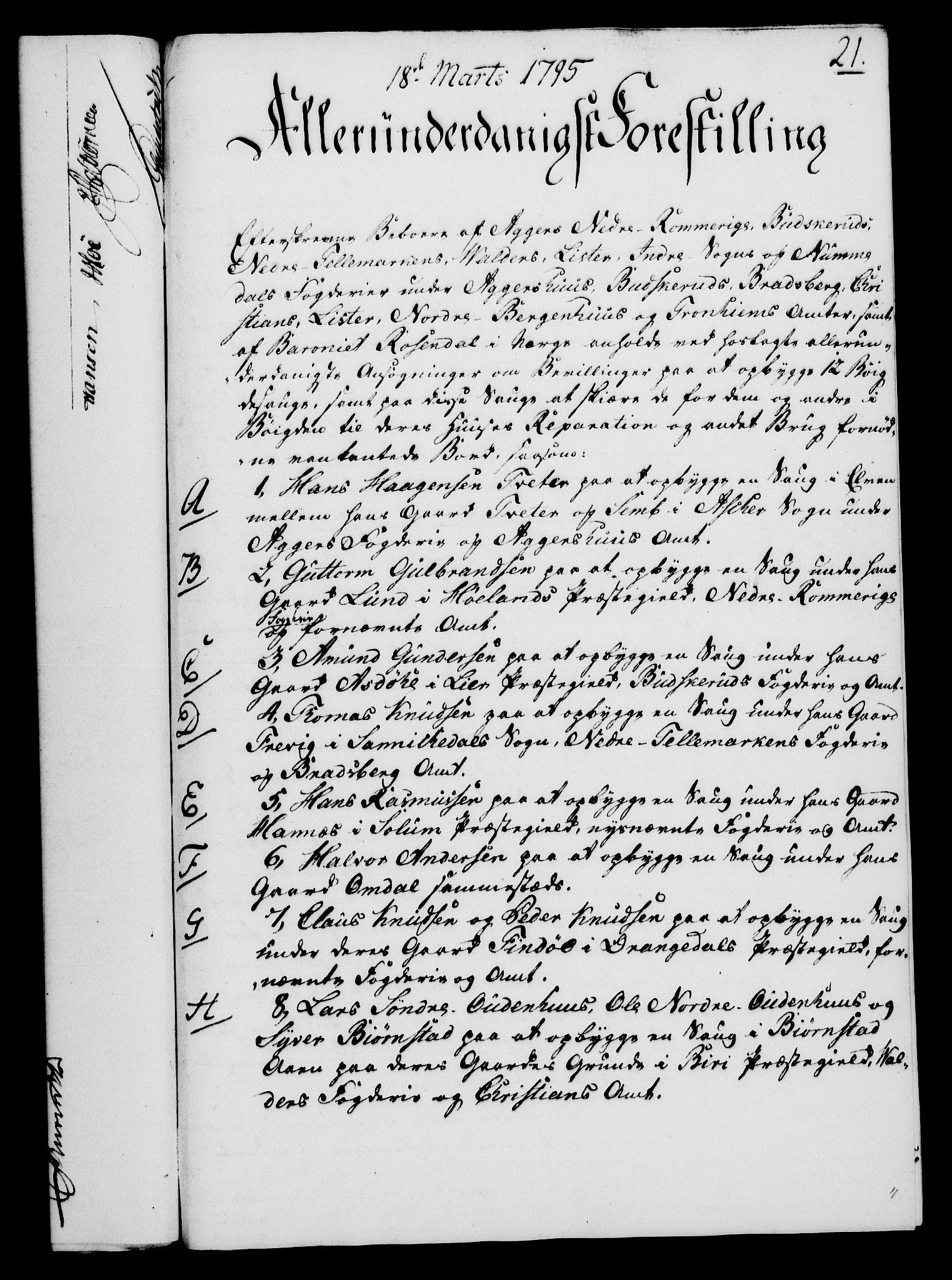 RA, Rentekammeret, Kammerkanselliet, G/Gf/Gfa/L0077: Norsk relasjons- og resolusjonsprotokoll (merket RK 52.77), 1795, s. 134