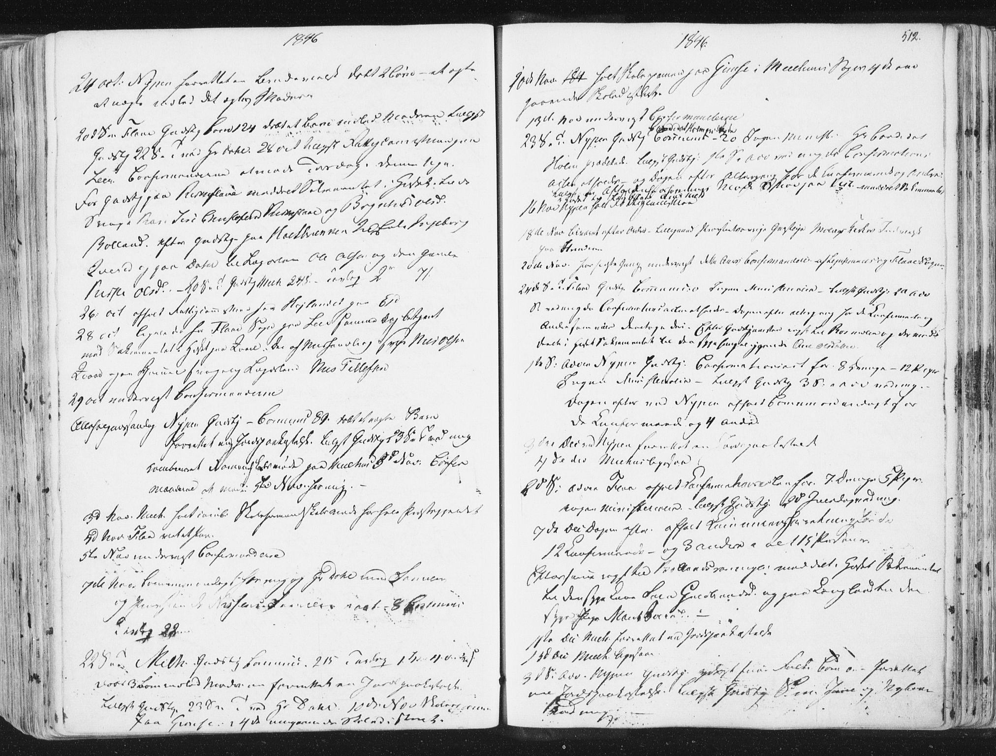 SAT, Ministerialprotokoller, klokkerbøker og fødselsregistre - Sør-Trøndelag, 691/L1074: Ministerialbok nr. 691A06, 1842-1852, s. 512