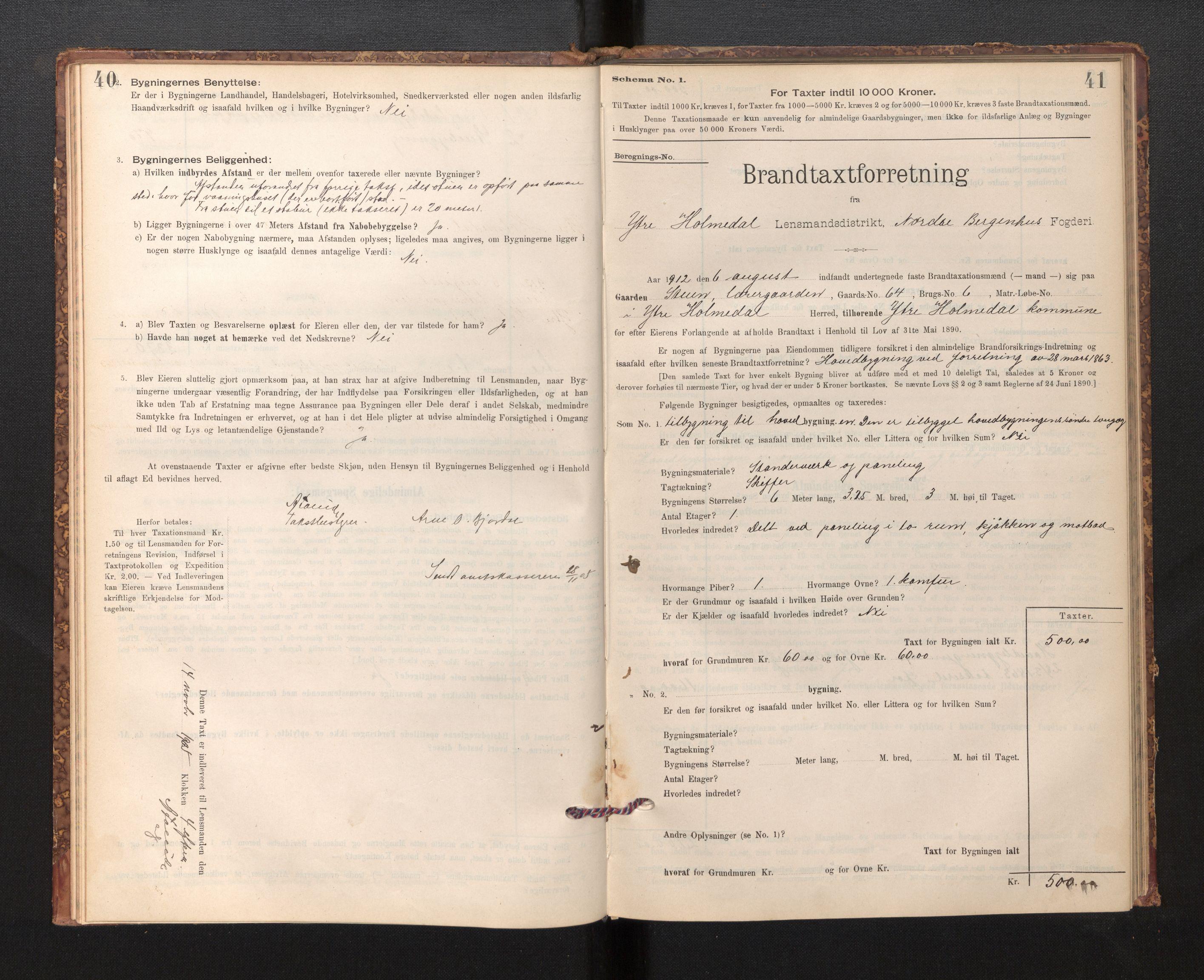 SAB, Lensmannen i Fjaler, 0012, 1895-1937, s. 40-41