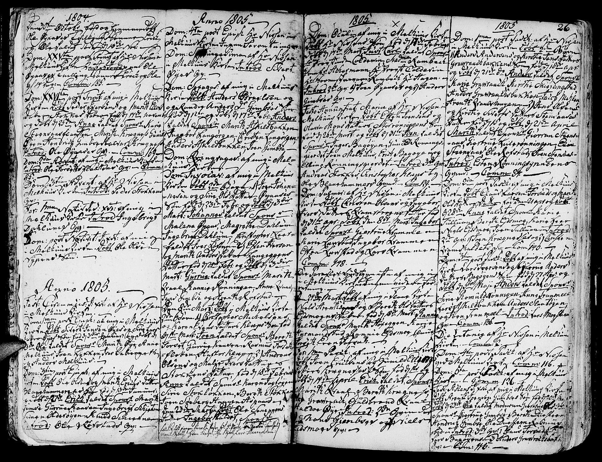 SAT, Ministerialprotokoller, klokkerbøker og fødselsregistre - Sør-Trøndelag, 691/L1061: Ministerialbok nr. 691A02 /1, 1768-1815, s. 26