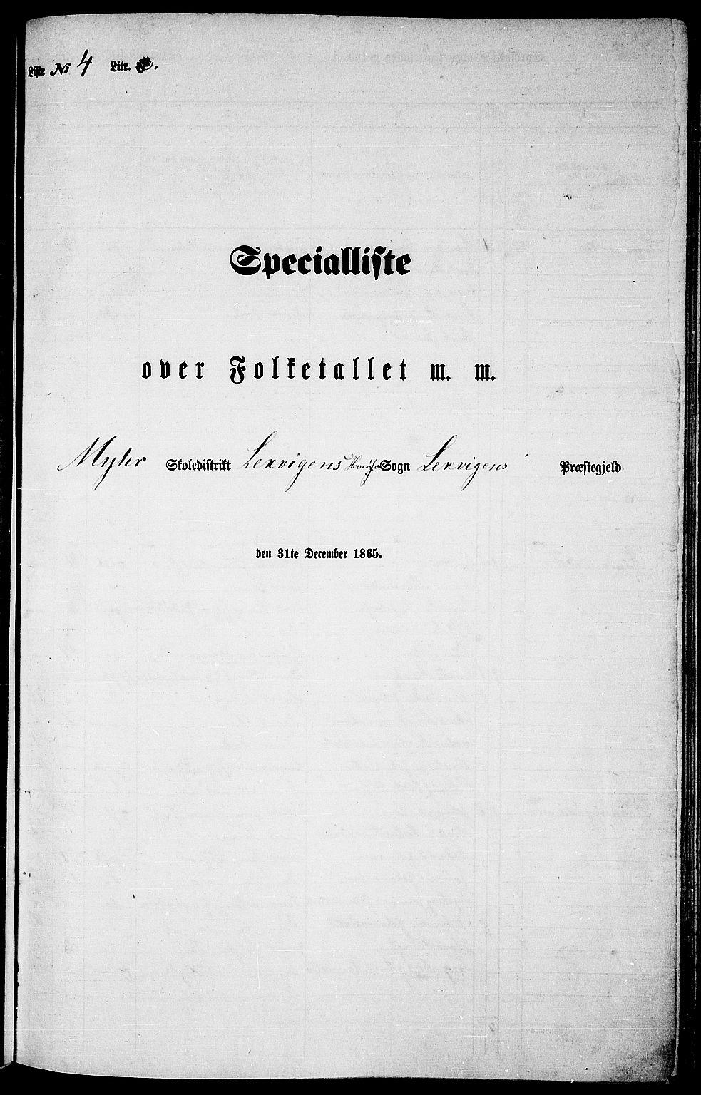RA, Folketelling 1865 for 1718P Leksvik prestegjeld, 1865, s. 76