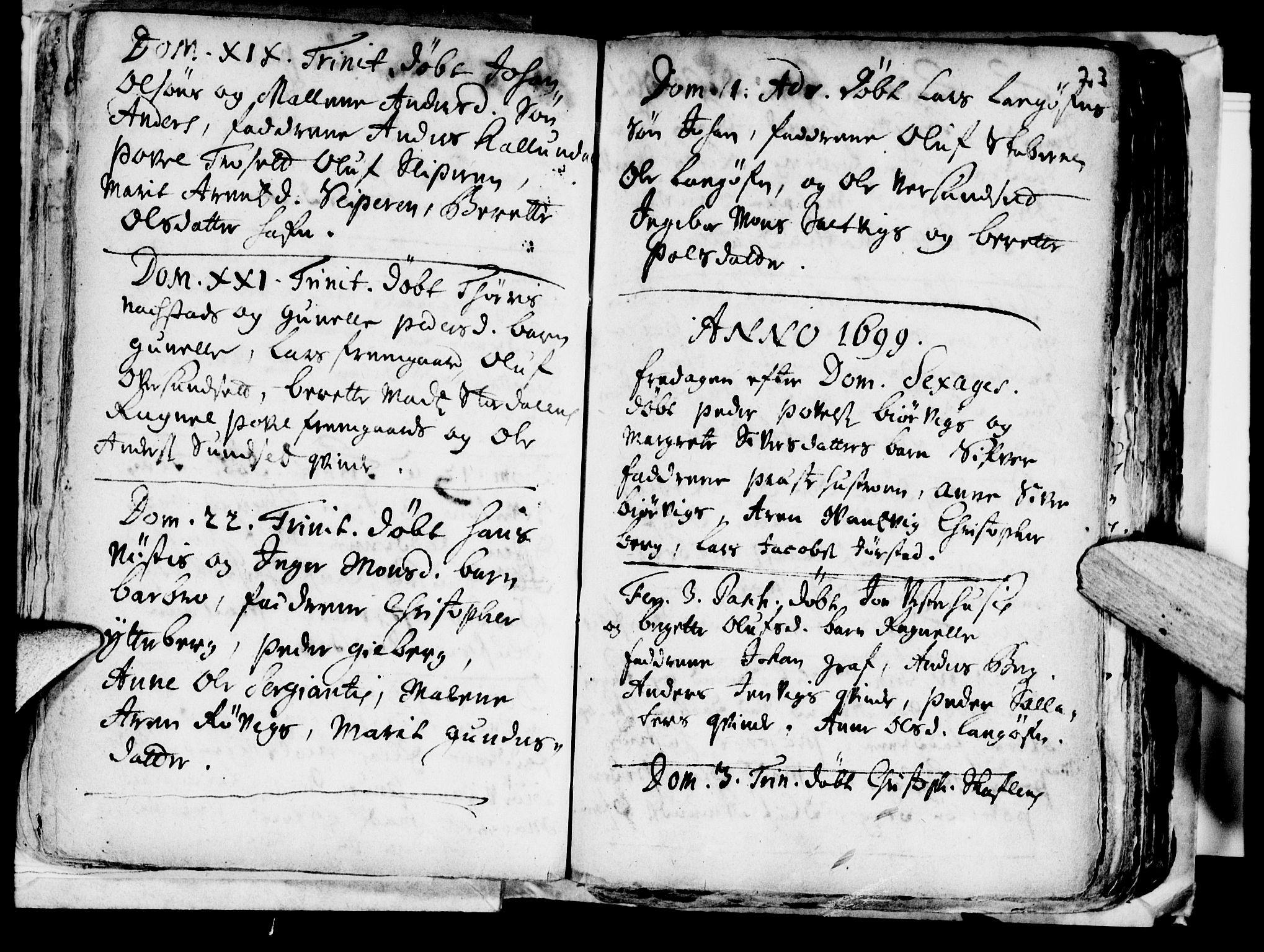 SAT, Ministerialprotokoller, klokkerbøker og fødselsregistre - Nord-Trøndelag, 722/L0214: Ministerialbok nr. 722A01, 1692-1718, s. 23