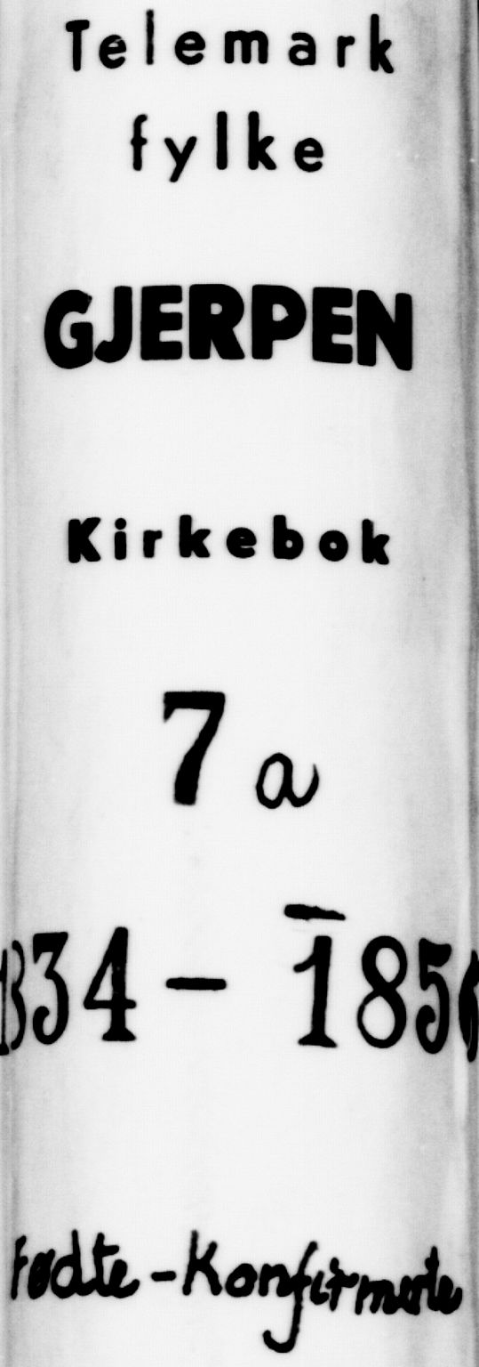SAKO, Gjerpen kirkebøker, F/Fa/L0007a: Ministerialbok nr. 7A, 1834-1857