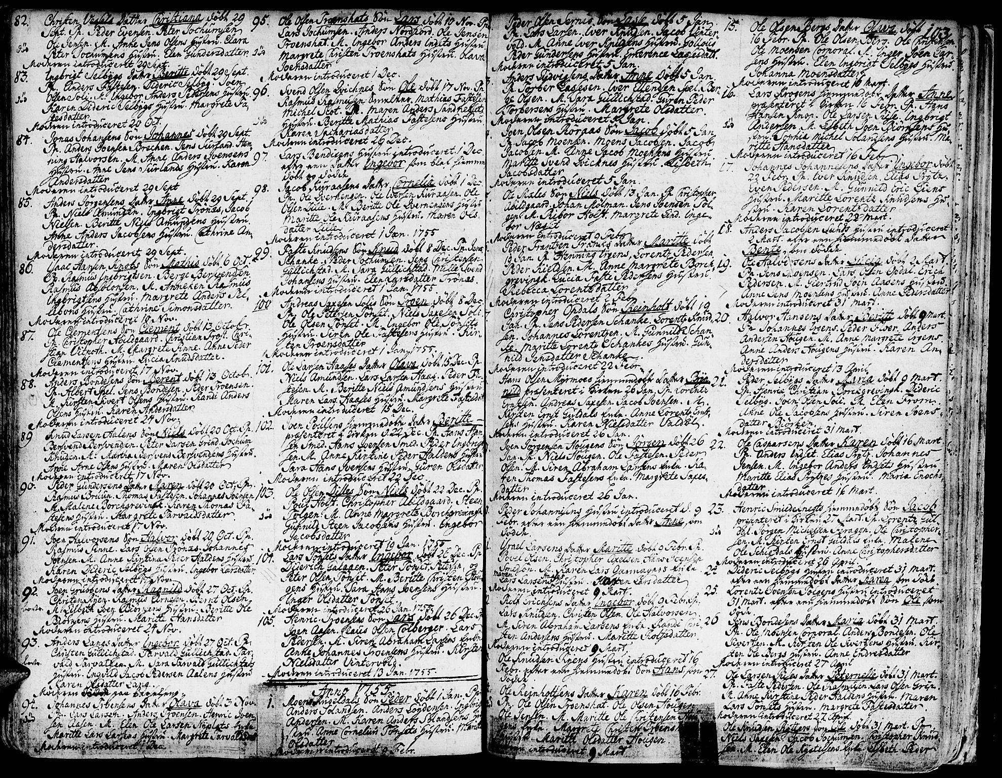 SAT, Ministerialprotokoller, klokkerbøker og fødselsregistre - Sør-Trøndelag, 681/L0925: Ministerialbok nr. 681A03, 1727-1766, s. 103