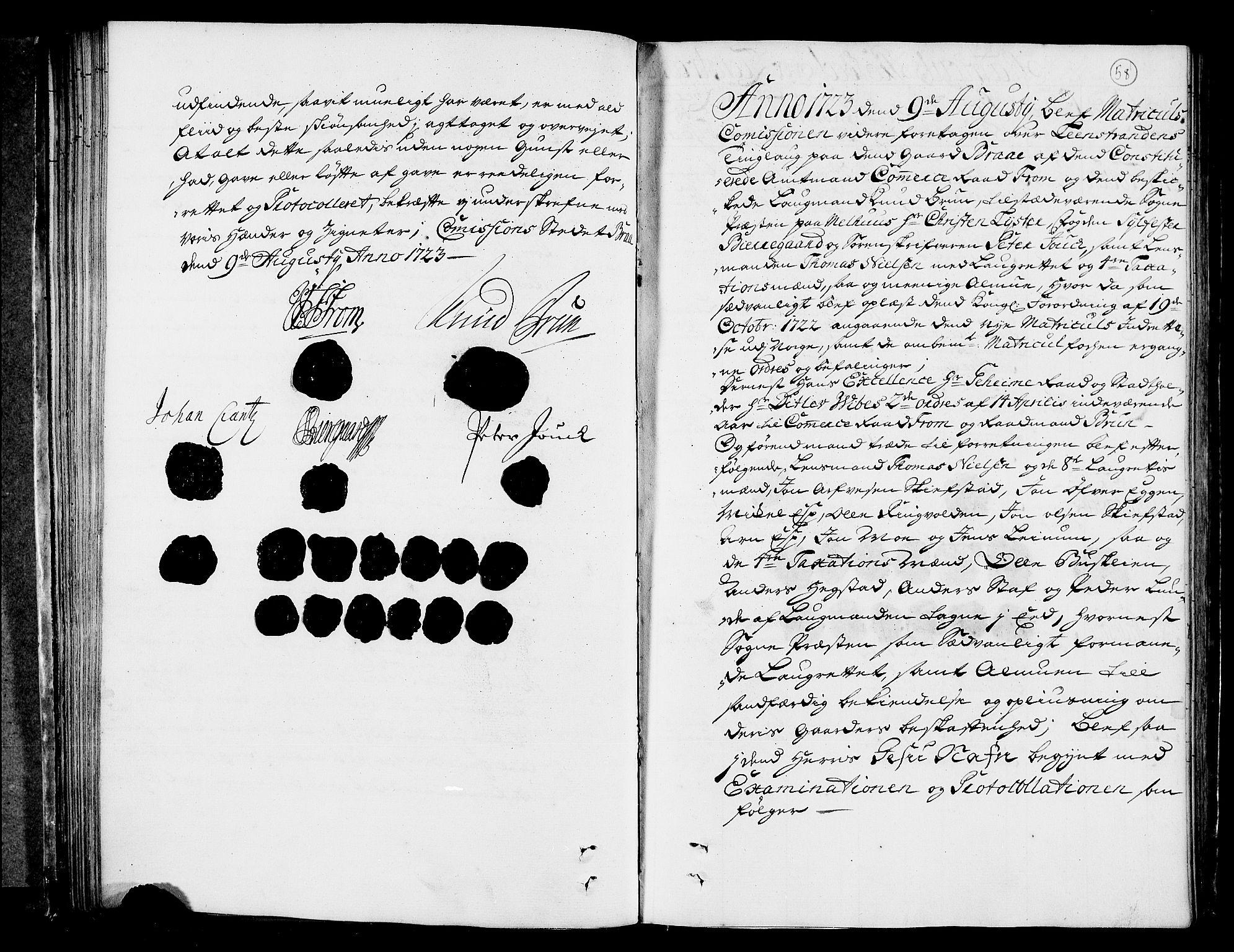 RA, Rentekammeret inntil 1814, Realistisk ordnet avdeling, N/Nb/Nbf/L0160: Strinda og Selbu eksaminasjonsprotokoll, 1723, s. 57b-58a