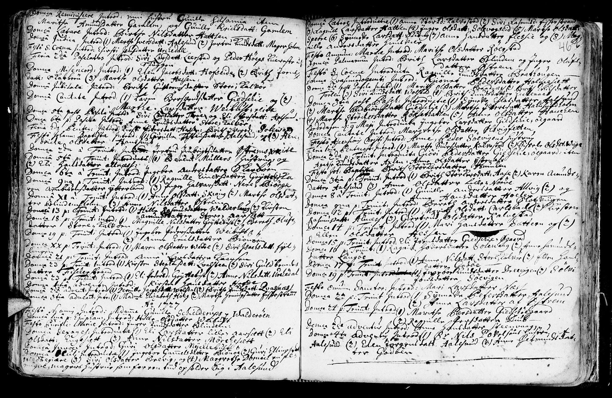 SAT, Ministerialprotokoller, klokkerbøker og fødselsregistre - Møre og Romsdal, 528/L0390: Ministerialbok nr. 528A01, 1698-1739, s. 466-467