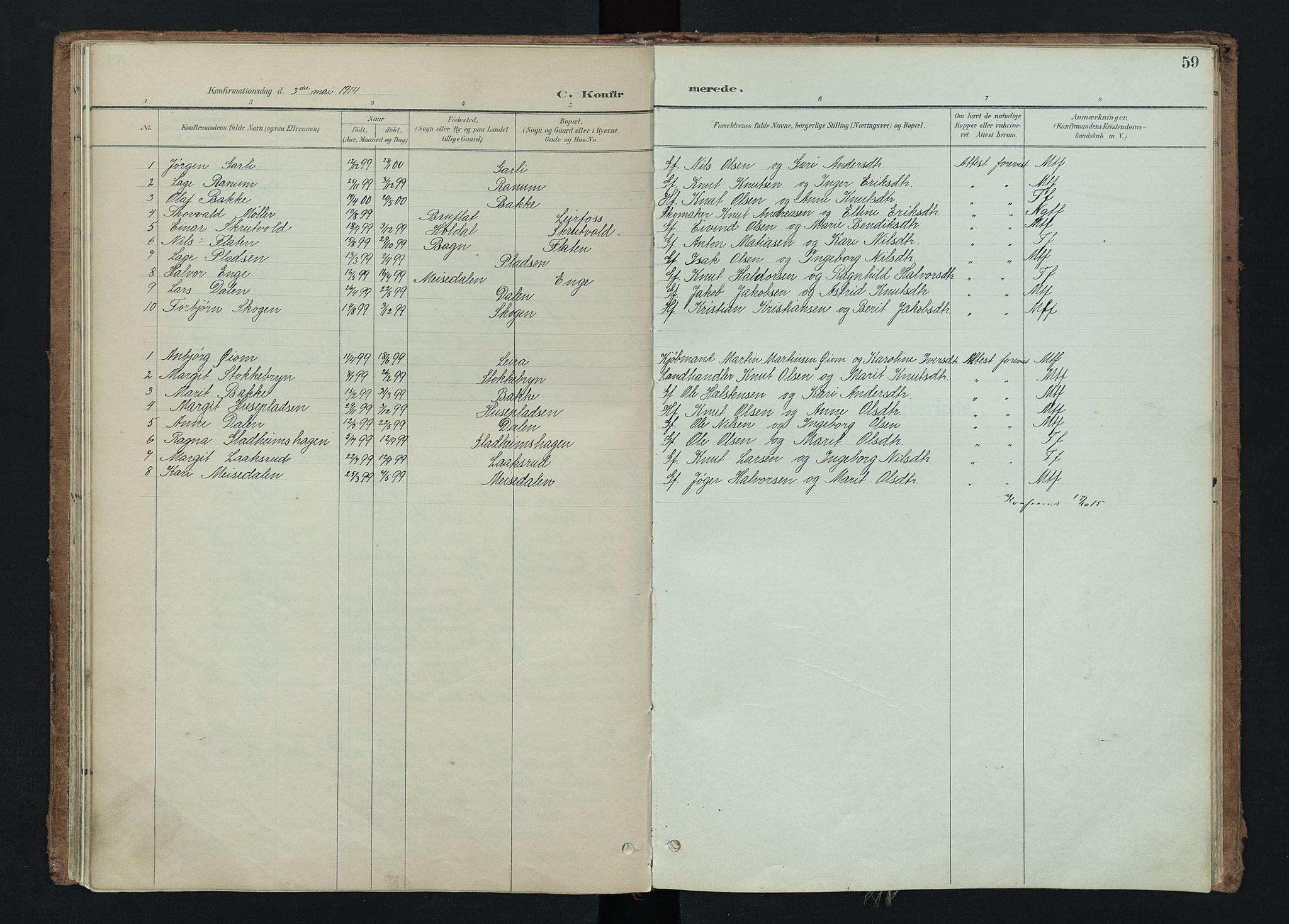SAH, Nord-Aurdal prestekontor, Ministerialbok nr. 15, 1896-1914, s. 59