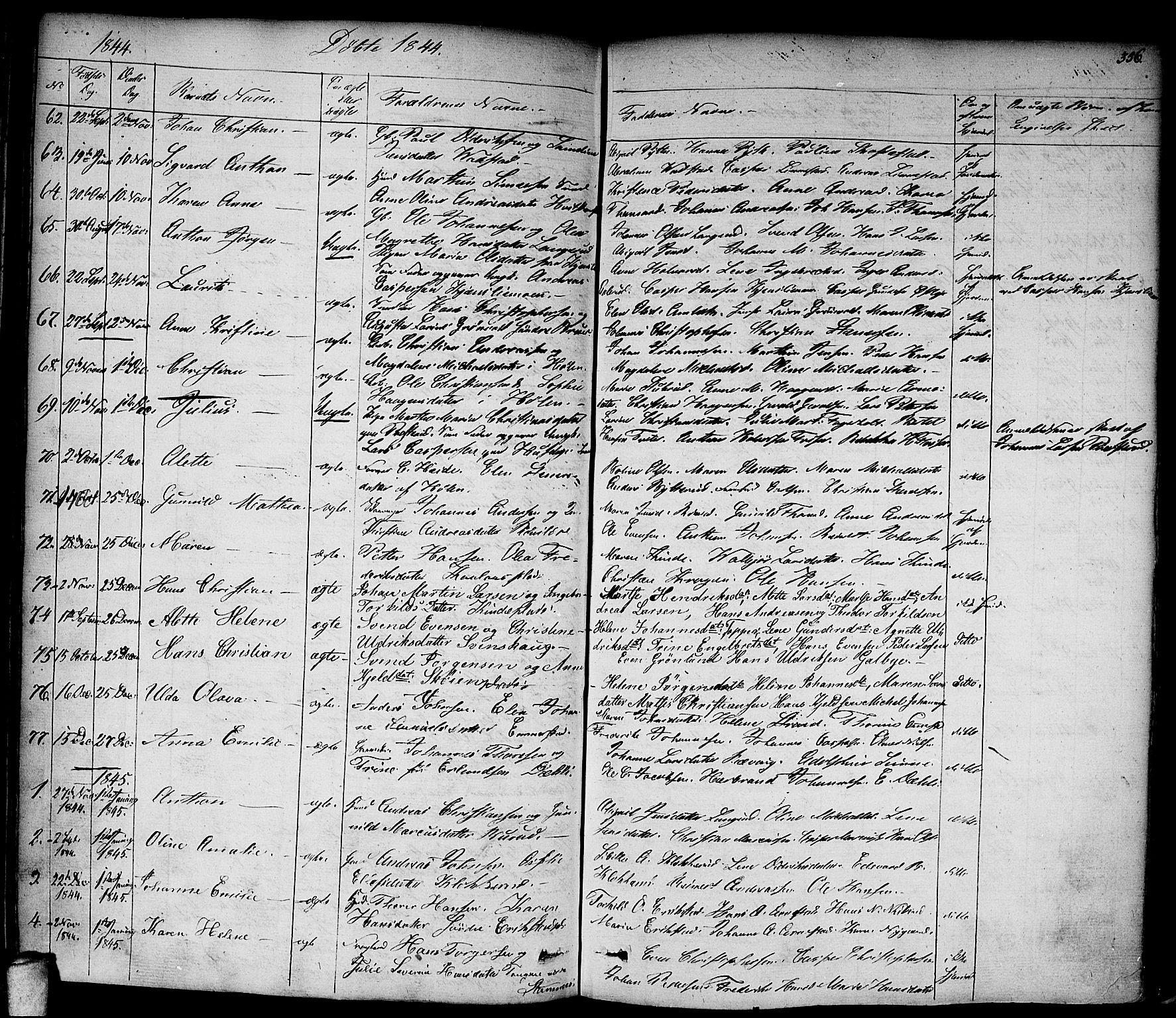 SAO, Vestby prestekontor Kirkebøker, F/Fa/L0006: Ministerialbok nr. I 6, 1827-1849, s. 356