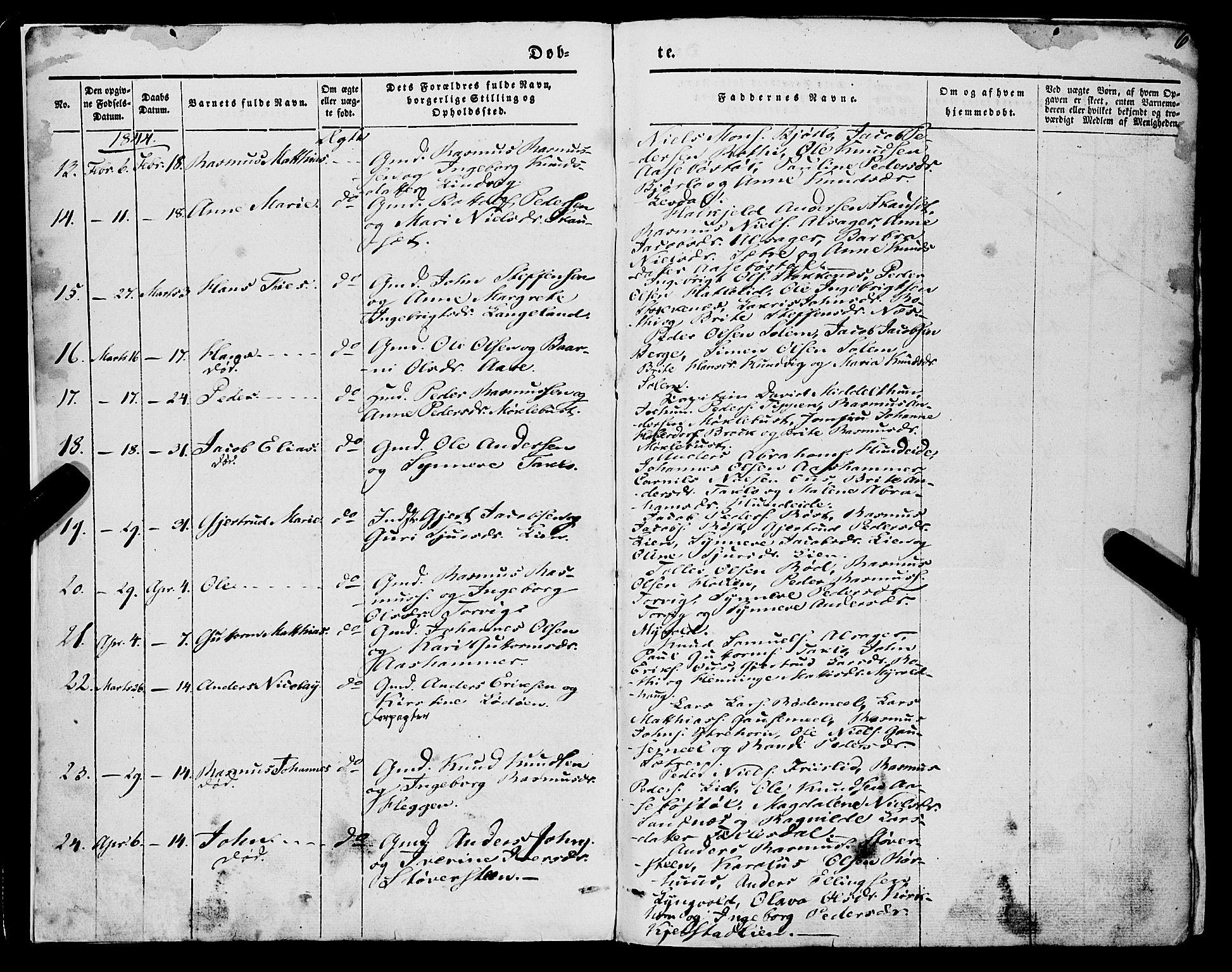 SAB, Eid sokneprestembete, H/Haa/Haaa/L0007: Ministerialbok nr. A 7, 1844-1858, s. 6