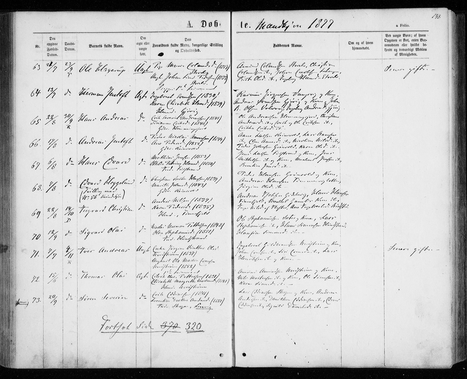 SATØ, Tranøy sokneprestkontor, I/Ia/Iaa/L0008kirke: Ministerialbok nr. 8, 1867-1877, s. 138