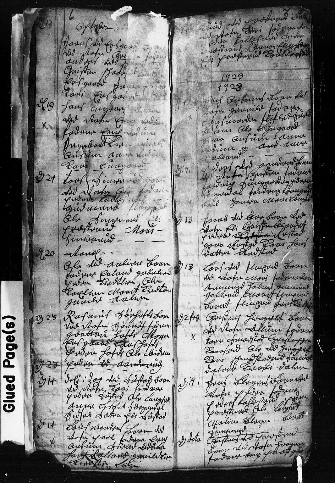 SAH, Fåberg prestekontor, Klokkerbok nr. 1, 1727-1767, s. 6-7