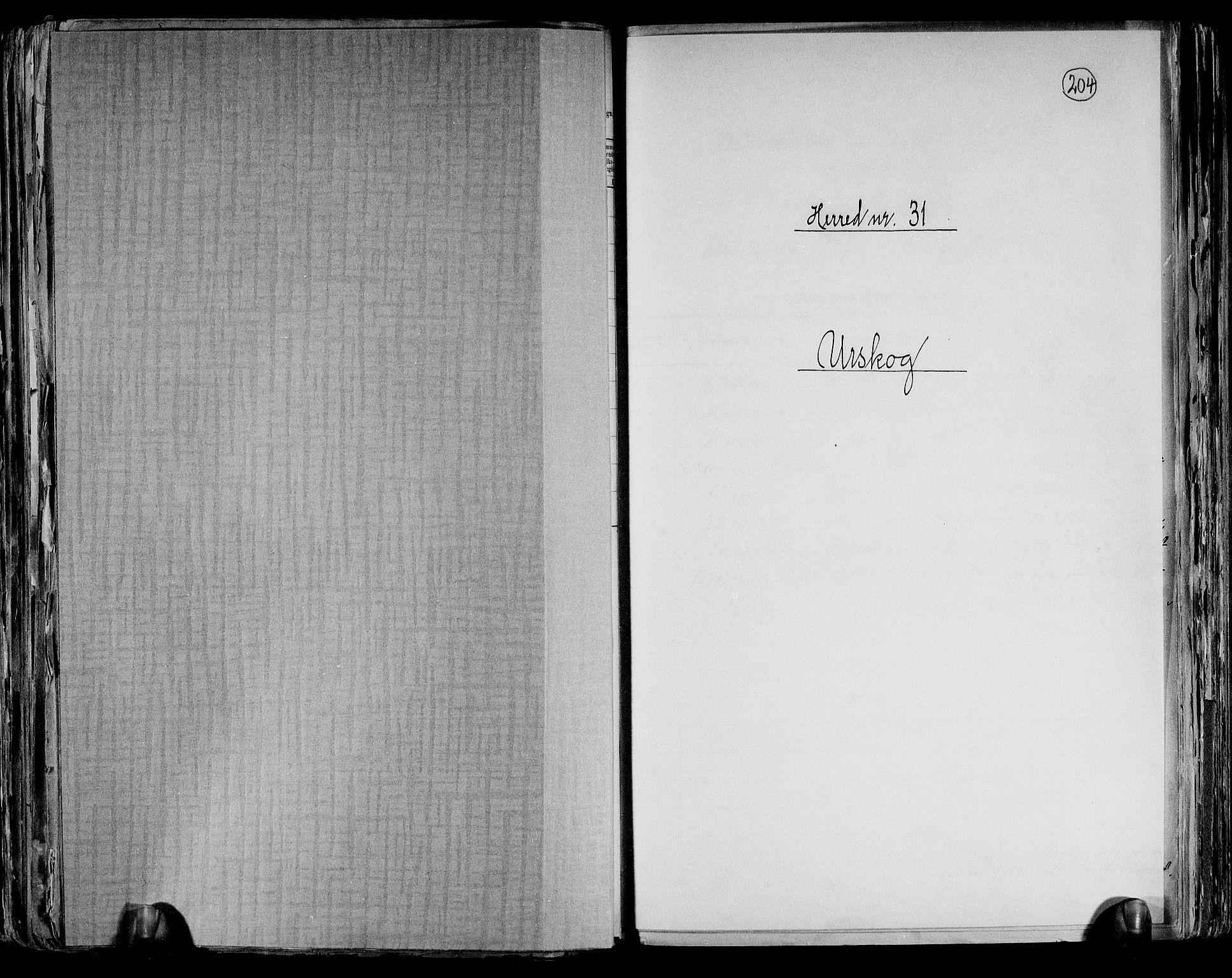 RA, Folketelling 1891 for 0224 Aurskog herred, 1891, s. 1