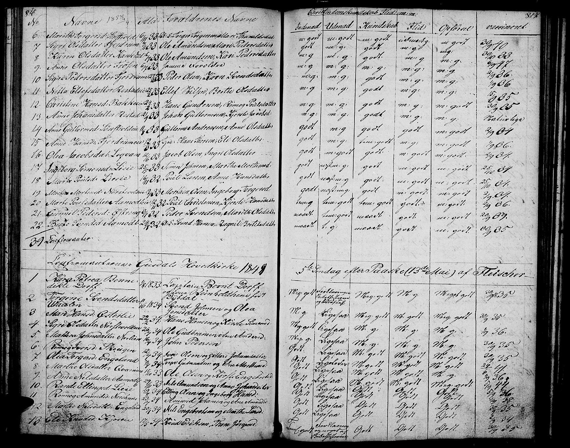 SAH, Gausdal prestekontor, Klokkerbok nr. 4, 1835-1870, s. 816-817