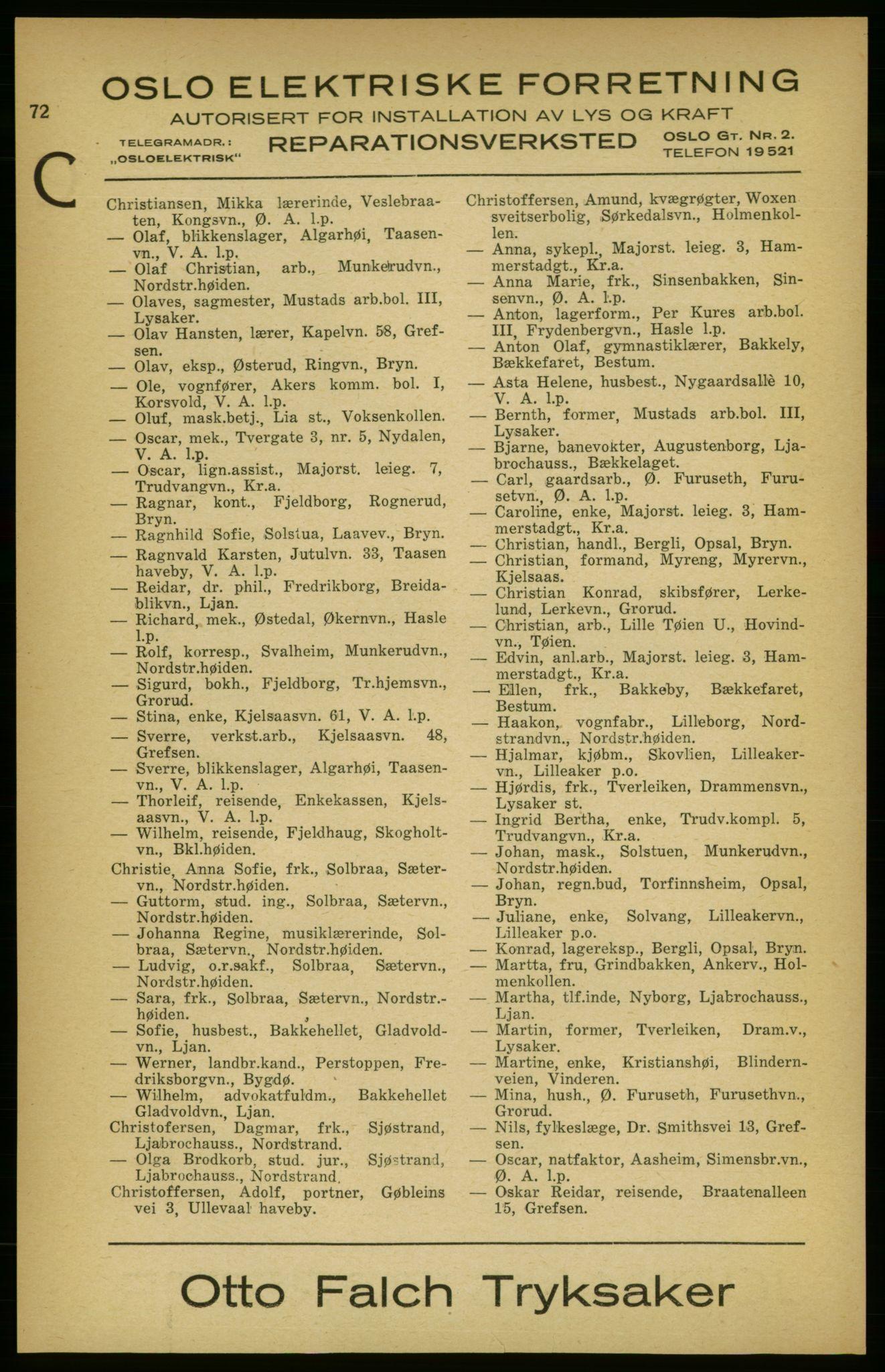 PUBL, Aker adressebok/adressekalender, 1924-1925, s. 72