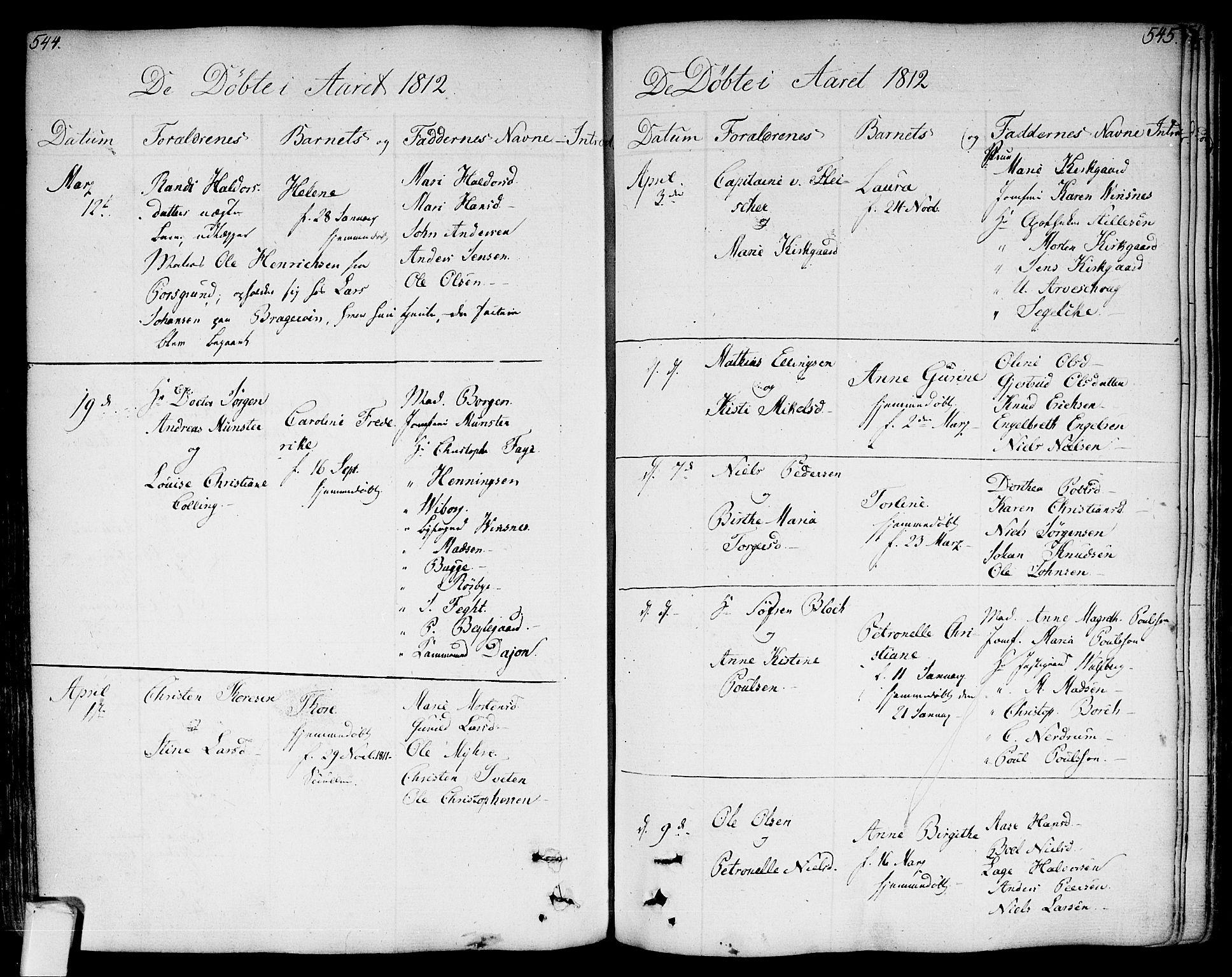 SAKO, Bragernes kirkebøker, F/Fa/L0006a: Ministerialbok nr. I 6, 1782-1814, s. 544-545