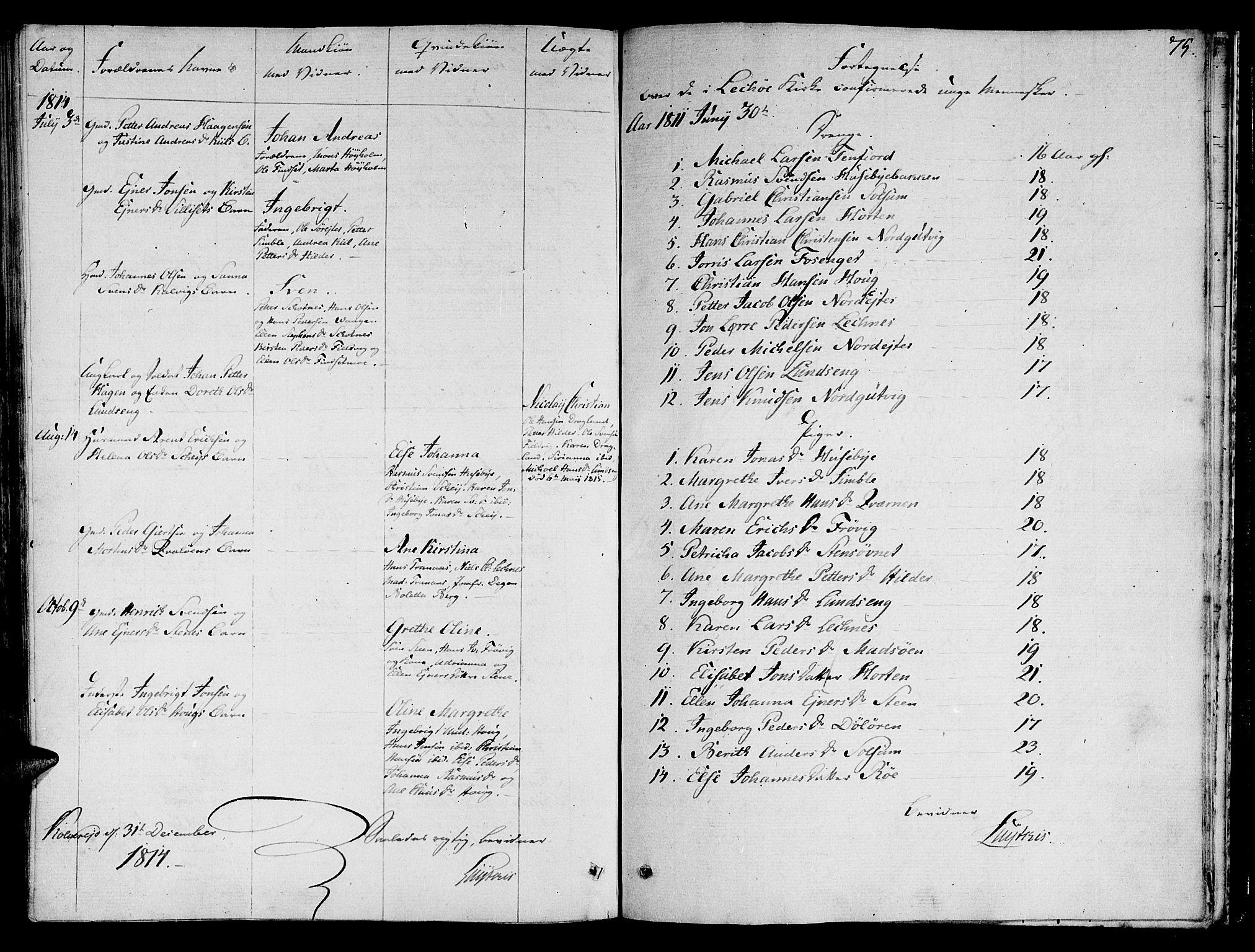 SAT, Ministerialprotokoller, klokkerbøker og fødselsregistre - Nord-Trøndelag, 780/L0633: Ministerialbok nr. 780A02 /2, 1806-1814, s. 75