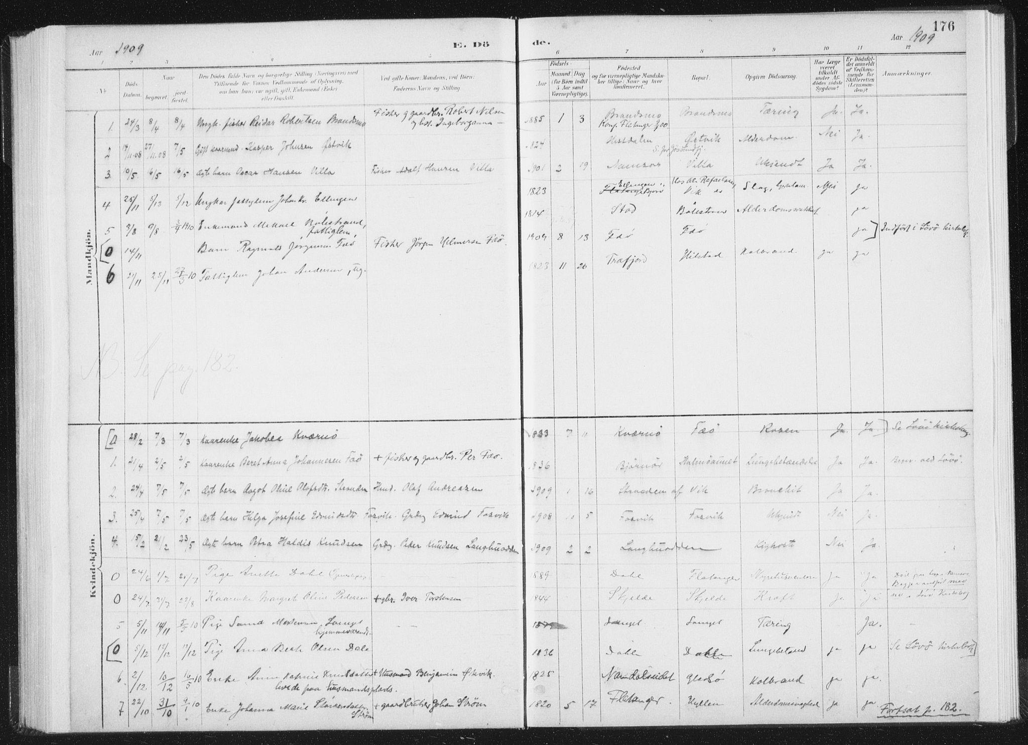 SAT, Ministerialprotokoller, klokkerbøker og fødselsregistre - Nord-Trøndelag, 771/L0597: Ministerialbok nr. 771A04, 1885-1910, s. 176