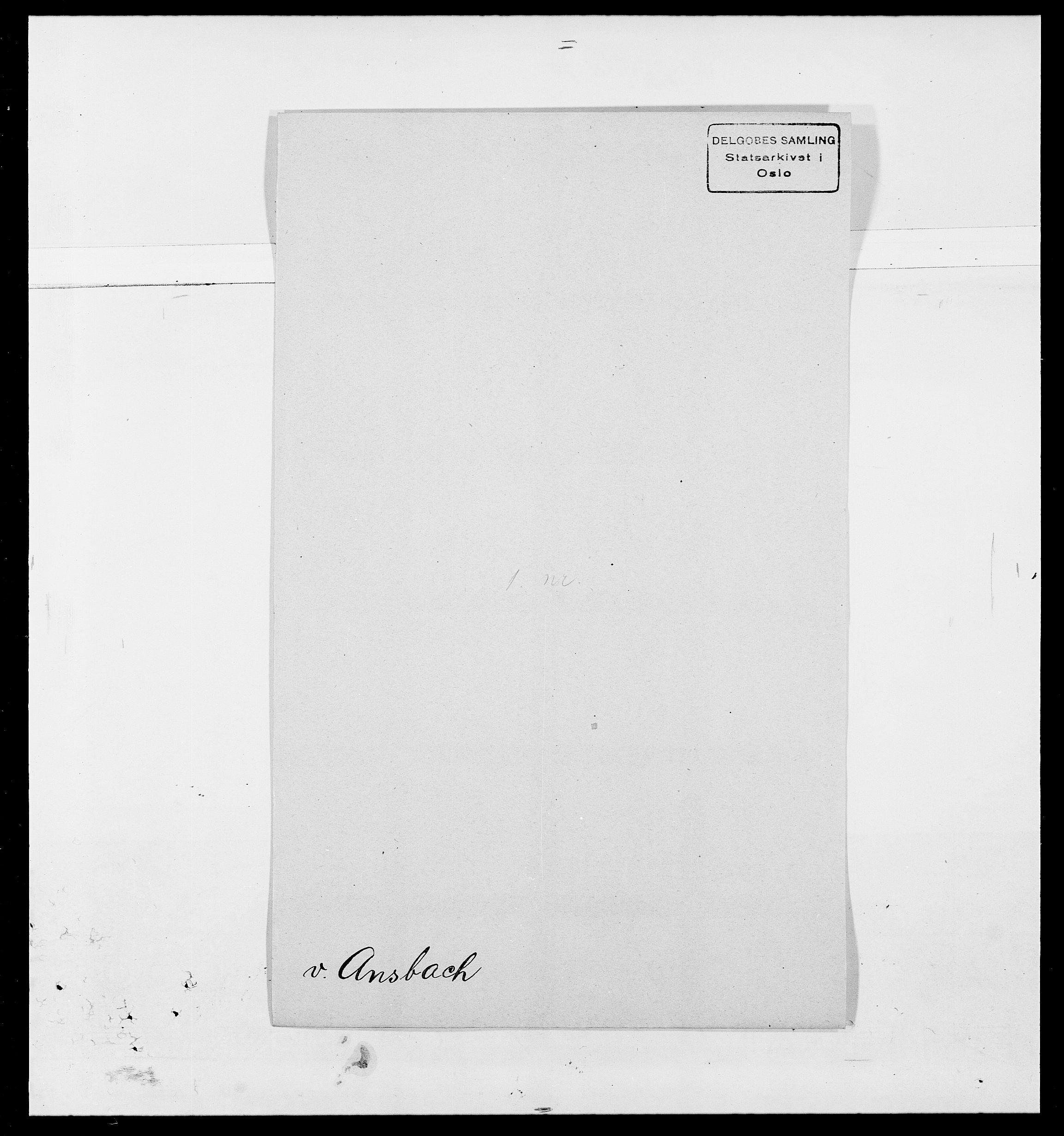 SAO, Delgobe, Charles Antoine - samling, D/Da/L0002: Anker, Ancher - Bauner, s. 186