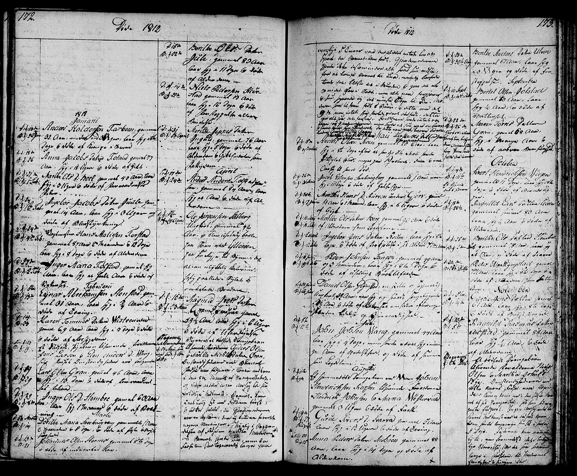SAT, Ministerialprotokoller, klokkerbøker og fødselsregistre - Nord-Trøndelag, 730/L0274: Ministerialbok nr. 730A03, 1802-1816, s. 172-173