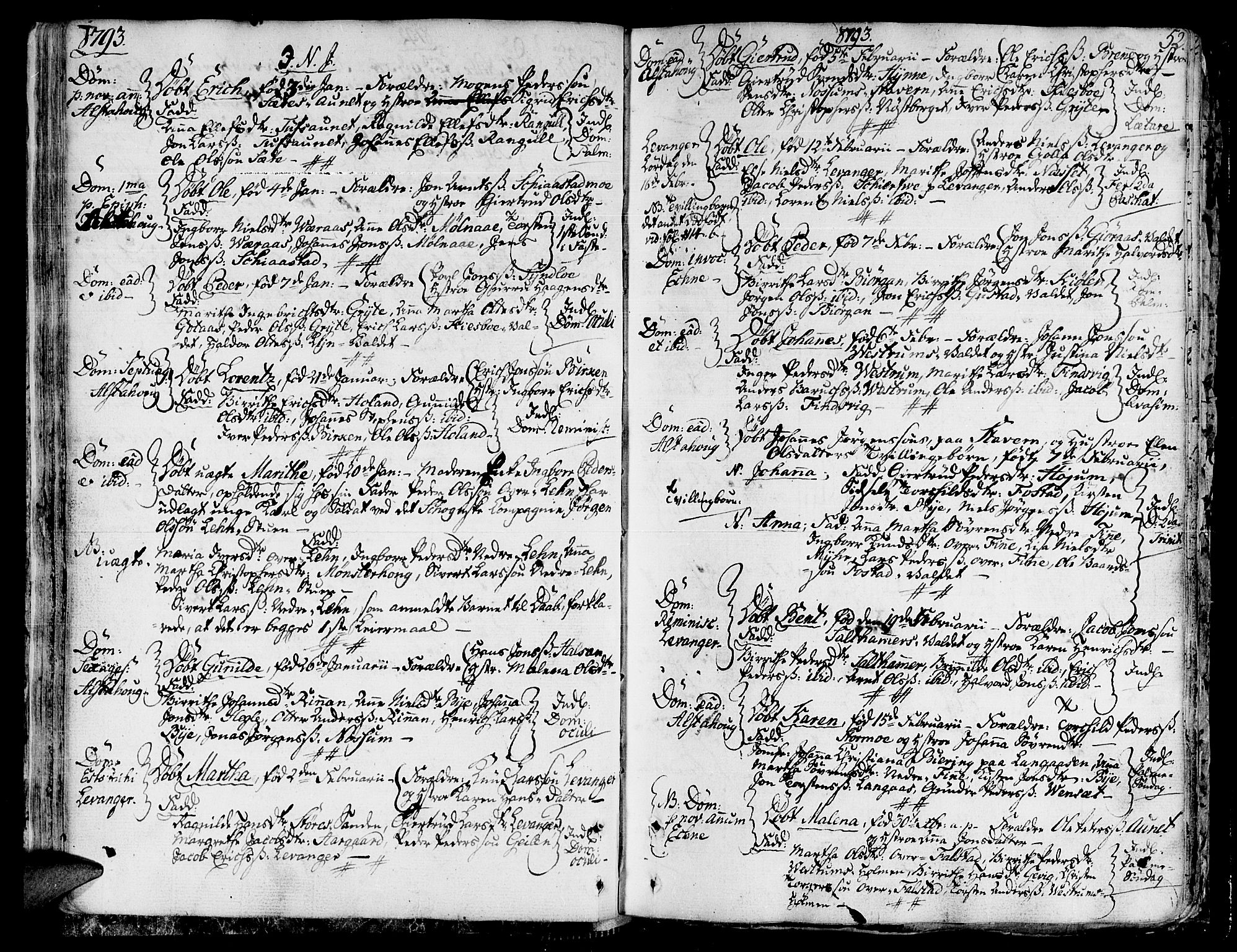 SAT, Ministerialprotokoller, klokkerbøker og fødselsregistre - Nord-Trøndelag, 717/L0142: Ministerialbok nr. 717A02 /1, 1783-1809, s. 52