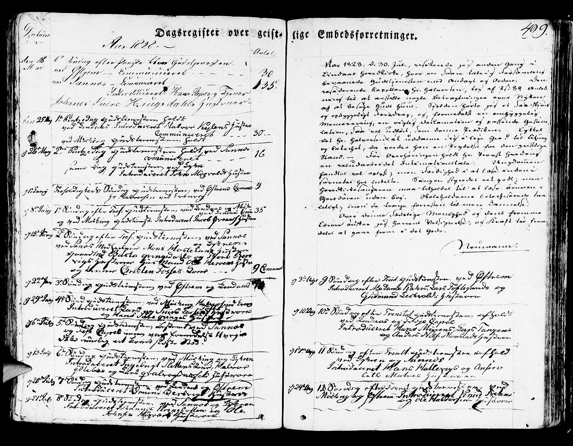 SAB, Lindås Sokneprestembete, H/Haa: Ministerialbok nr. A 8, 1823-1836, s. 499
