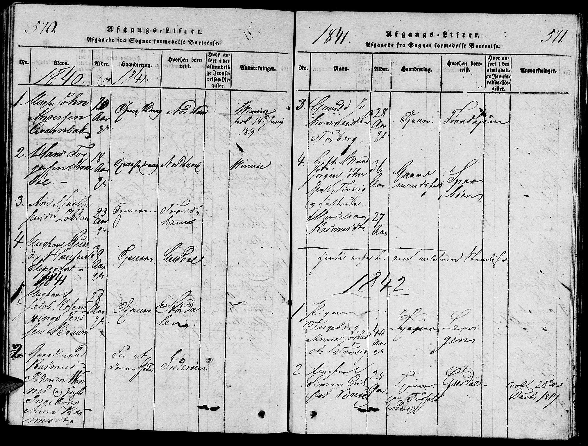 SAT, Ministerialprotokoller, klokkerbøker og fødselsregistre - Nord-Trøndelag, 733/L0322: Ministerialbok nr. 733A01, 1817-1842, s. 570-571