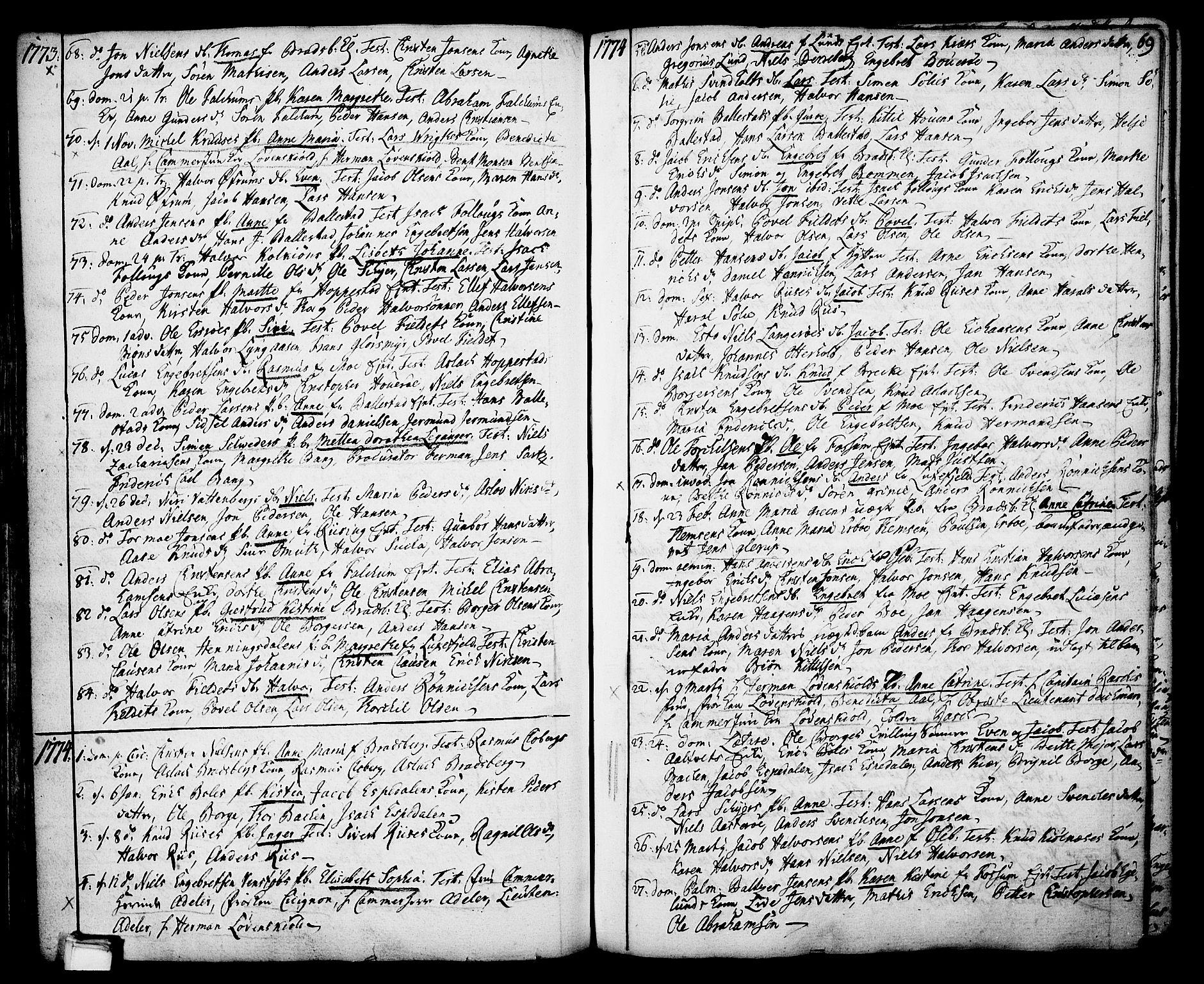 SAKO, Gjerpen kirkebøker, F/Fa/L0002: Ministerialbok nr. 2, 1747-1795, s. 69