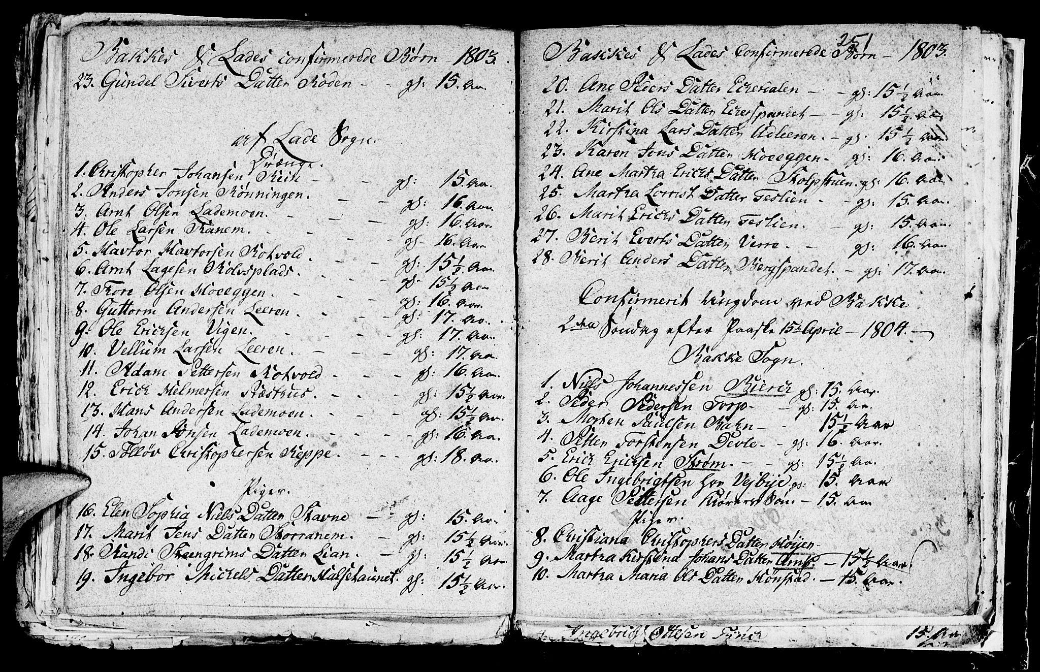 SAT, Ministerialprotokoller, klokkerbøker og fødselsregistre - Sør-Trøndelag, 604/L0218: Klokkerbok nr. 604C01, 1754-1819, s. 251